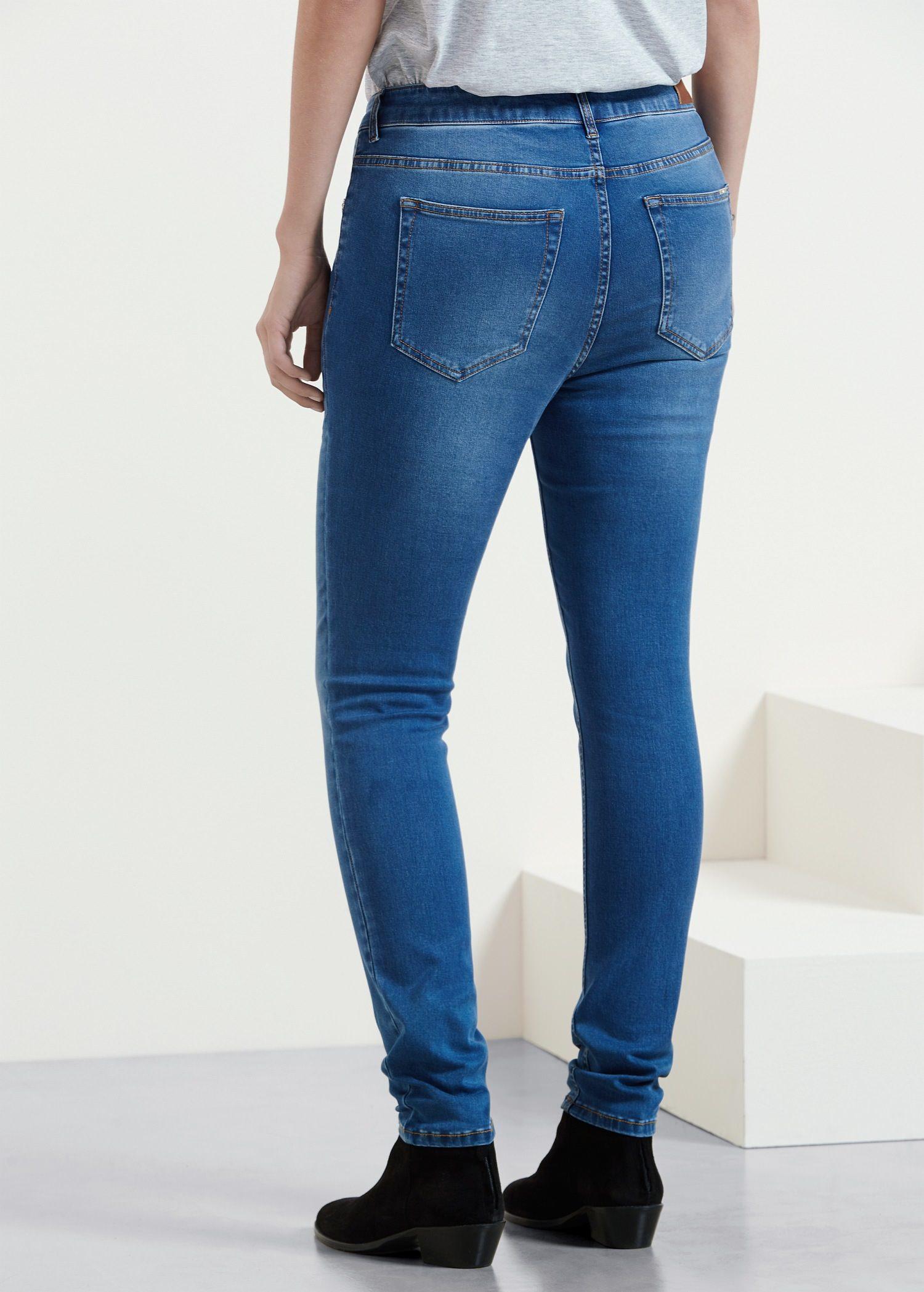 Violeta By Mango Super Slim Fit Silvia Jeans In Blue