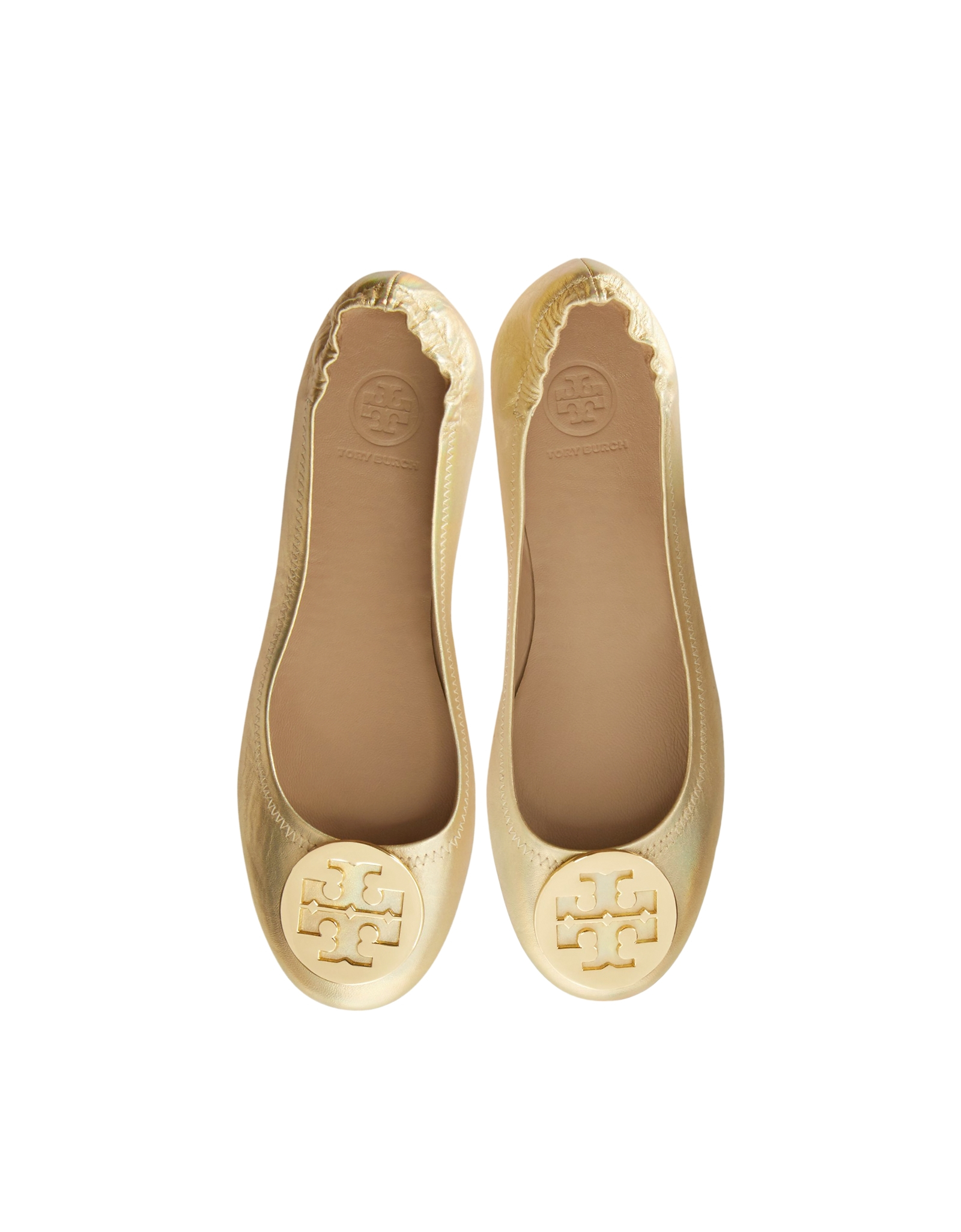 6346e63a4d1 ... reduced lyst tory burch minnie leather travel ballet flats in natural  1b82f 0f3ac