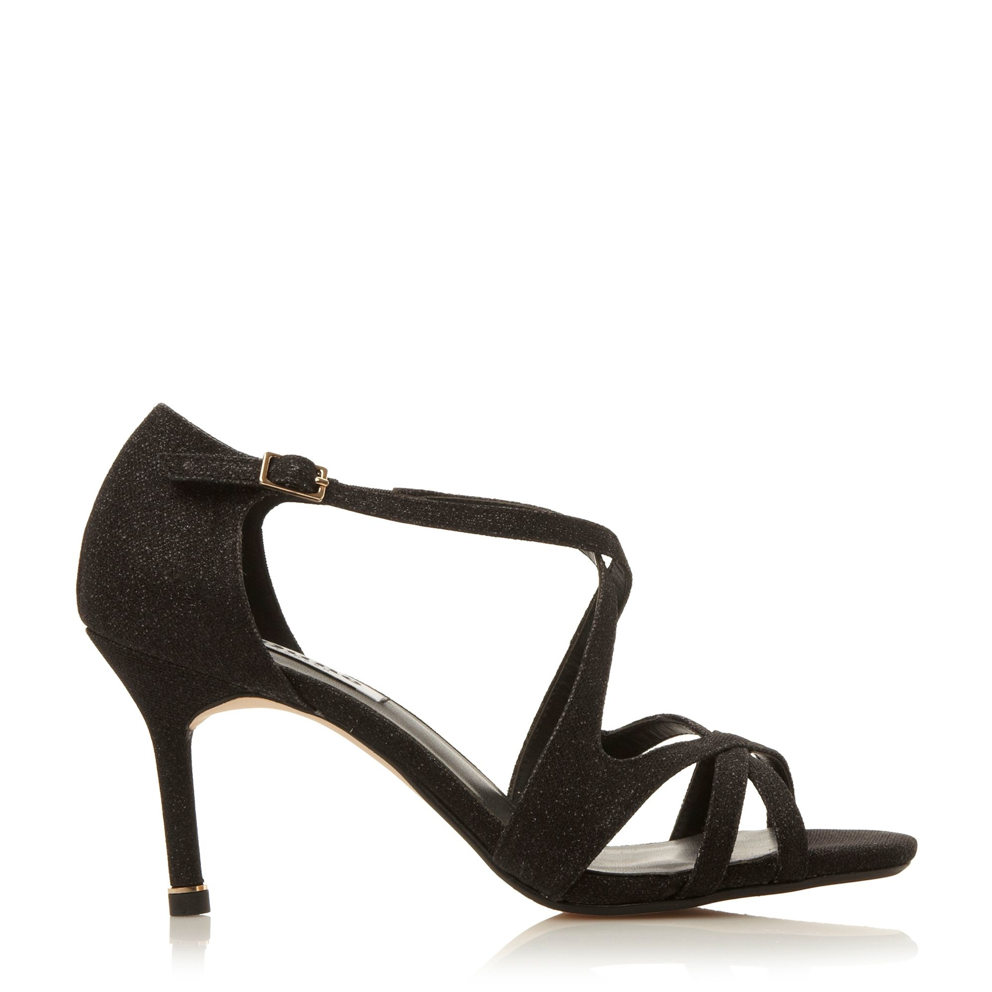 Dune Marilyn Strappy Mid Heel Sandals in Black | Lyst