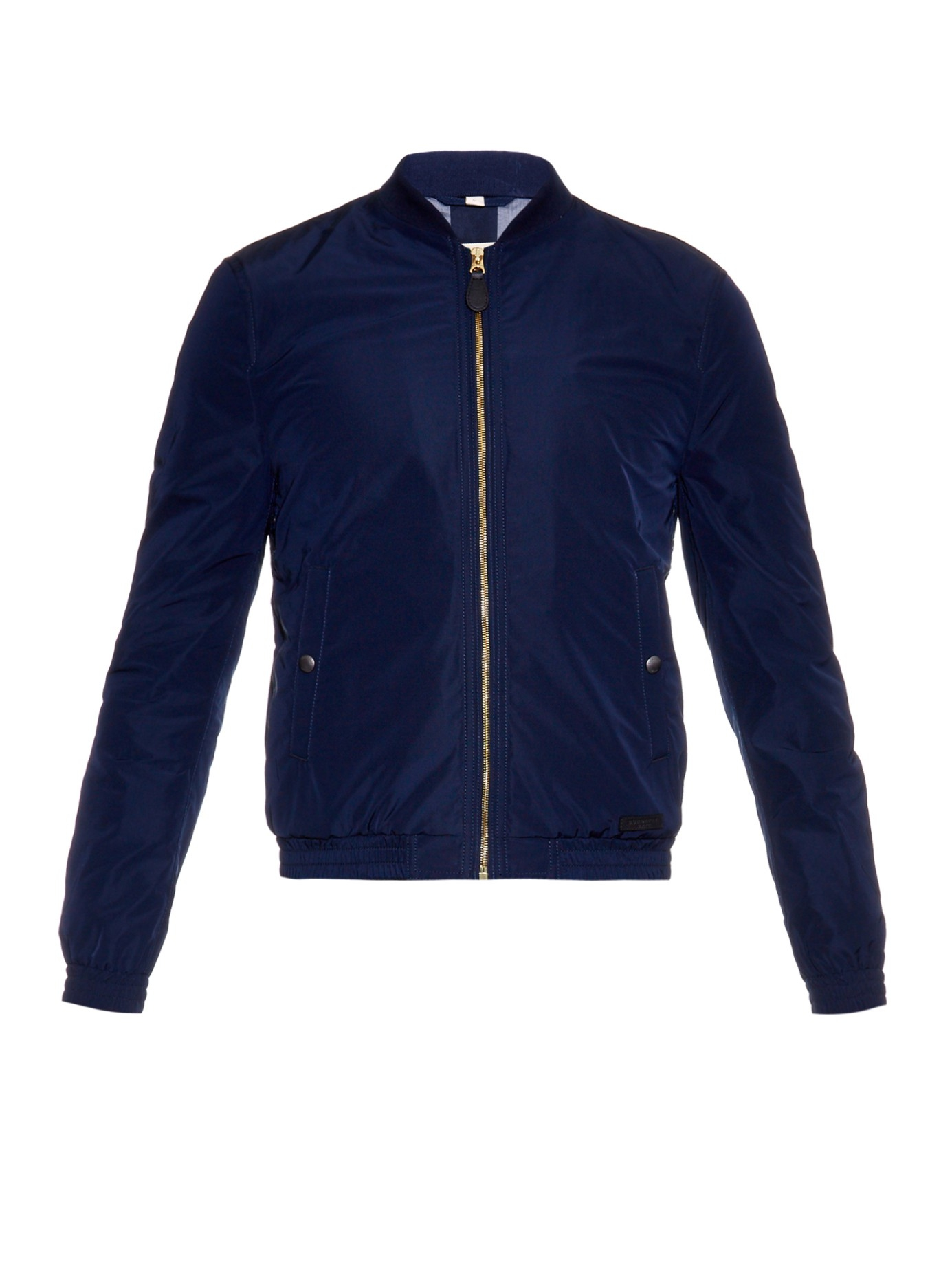 Burberry brit Nylon Bomber Jacket in Blue for Men | Lyst