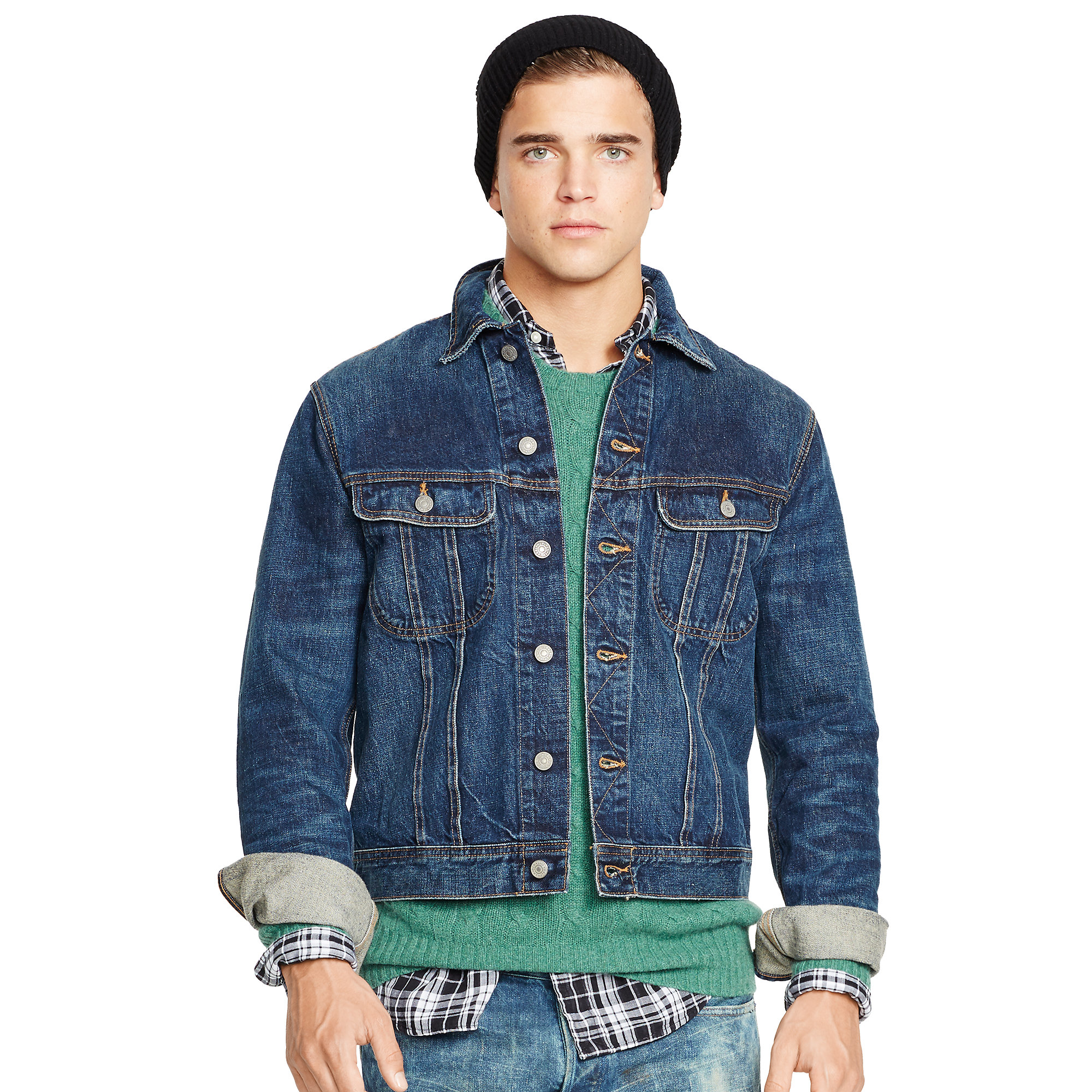 d74afa70807 Lyst - Polo Ralph Lauren Denim Trucker Jacket in Blue for Men