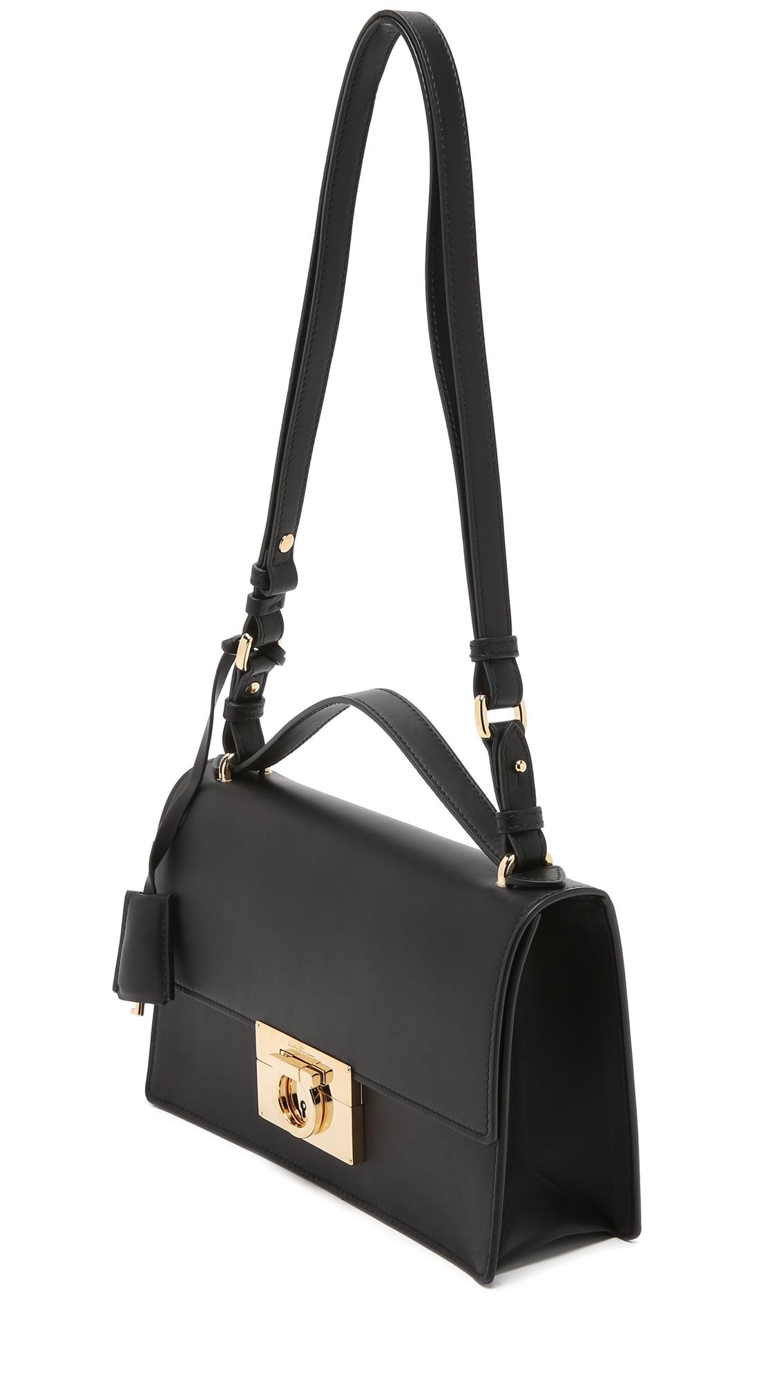 Ferragamo Aileen Shoulder Bag - Black in Black - Lyst fc7cf15ce71d7
