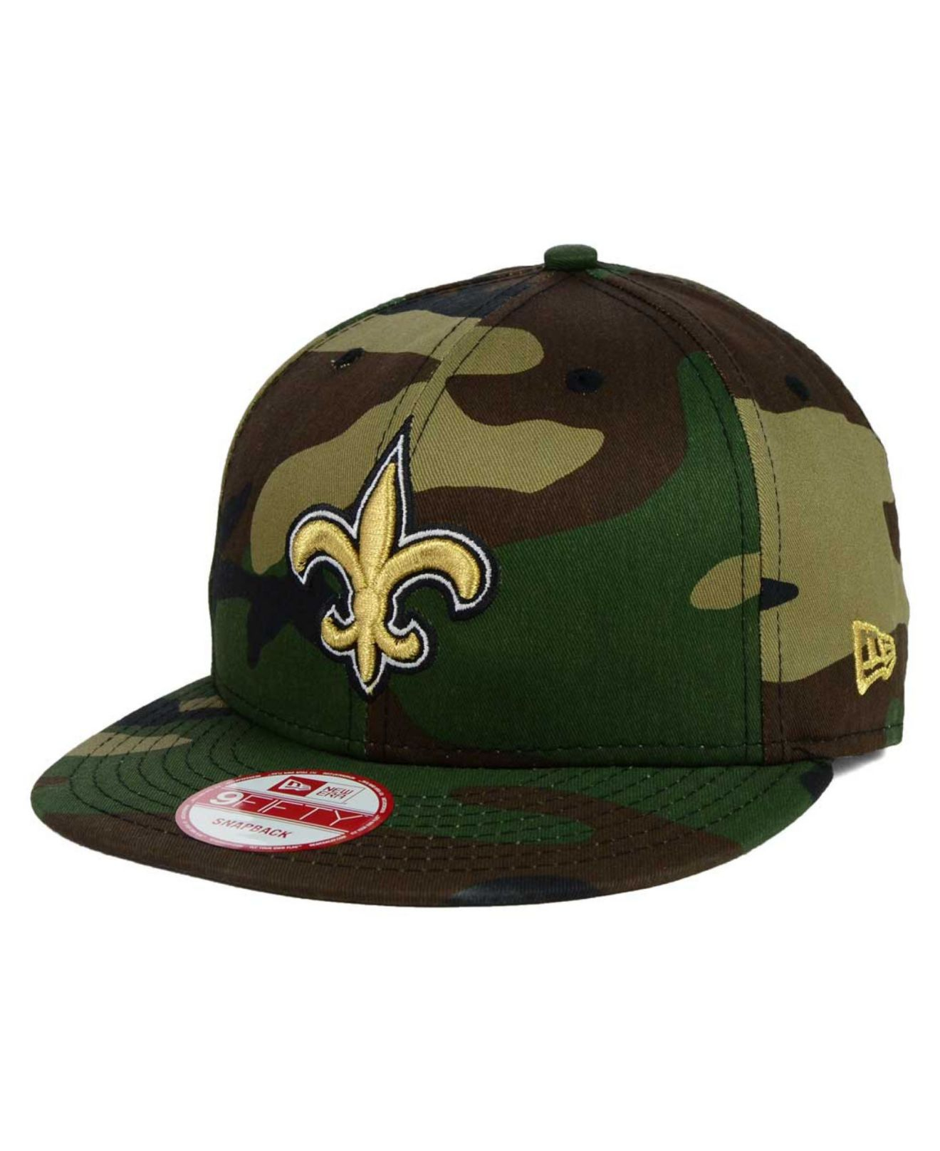 another chance 091db 653af KTZ New Orleans Saints Woodland Camo Team Color 9Fifty Snapback Cap ...