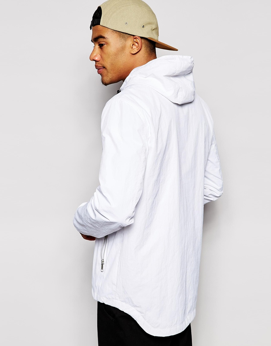 Asos Hooded Parka in White for Men | Lyst