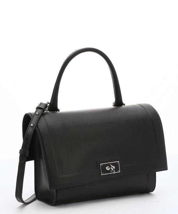 d6511b8bd7d1 Lyst - Givenchy Black Calfskin Small  shark  Convertible Top Handle ...