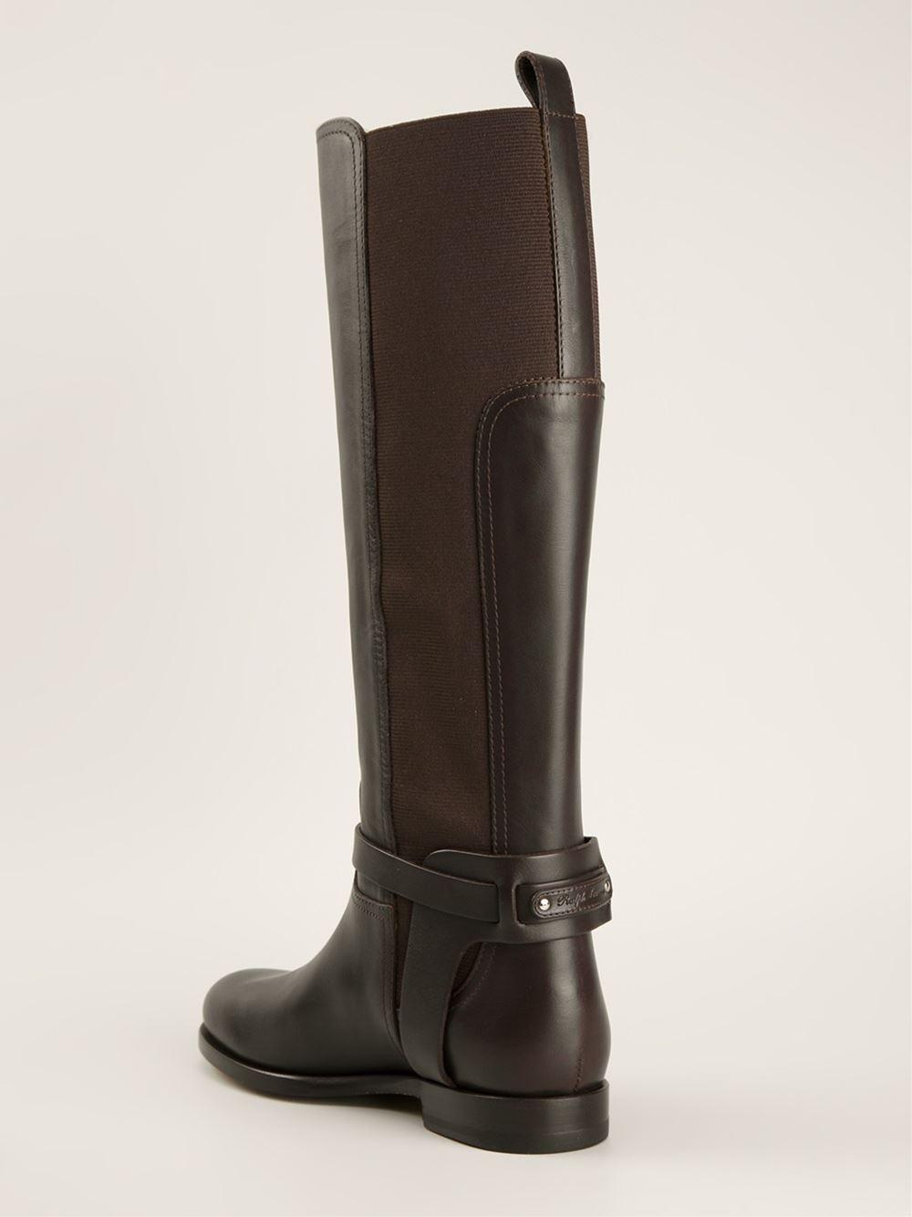 Ralph Lauren Sadona Riding Style Boots In Brown Lyst