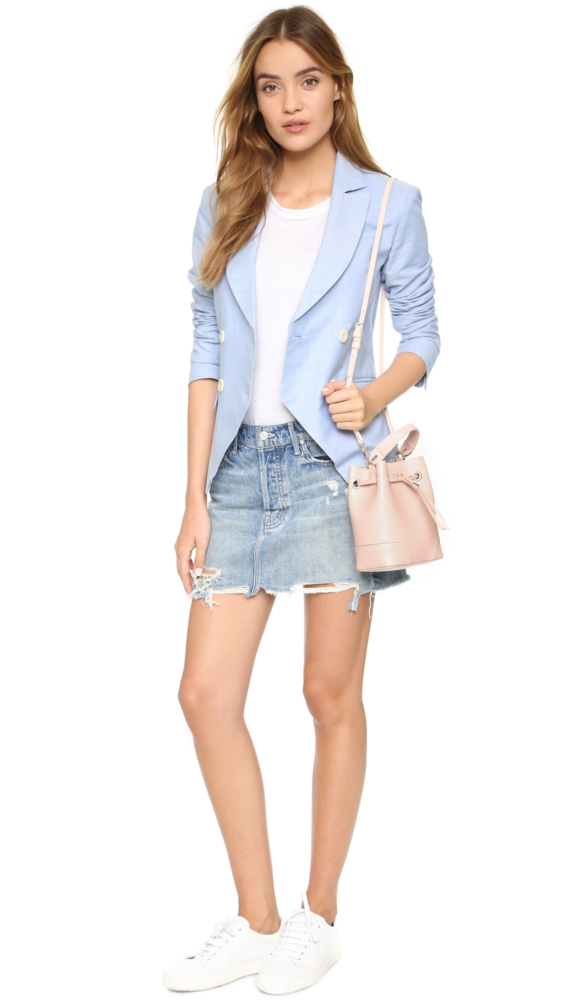 Lyst Furla Stacy Mini Bucket Bag Magnolia In Pink