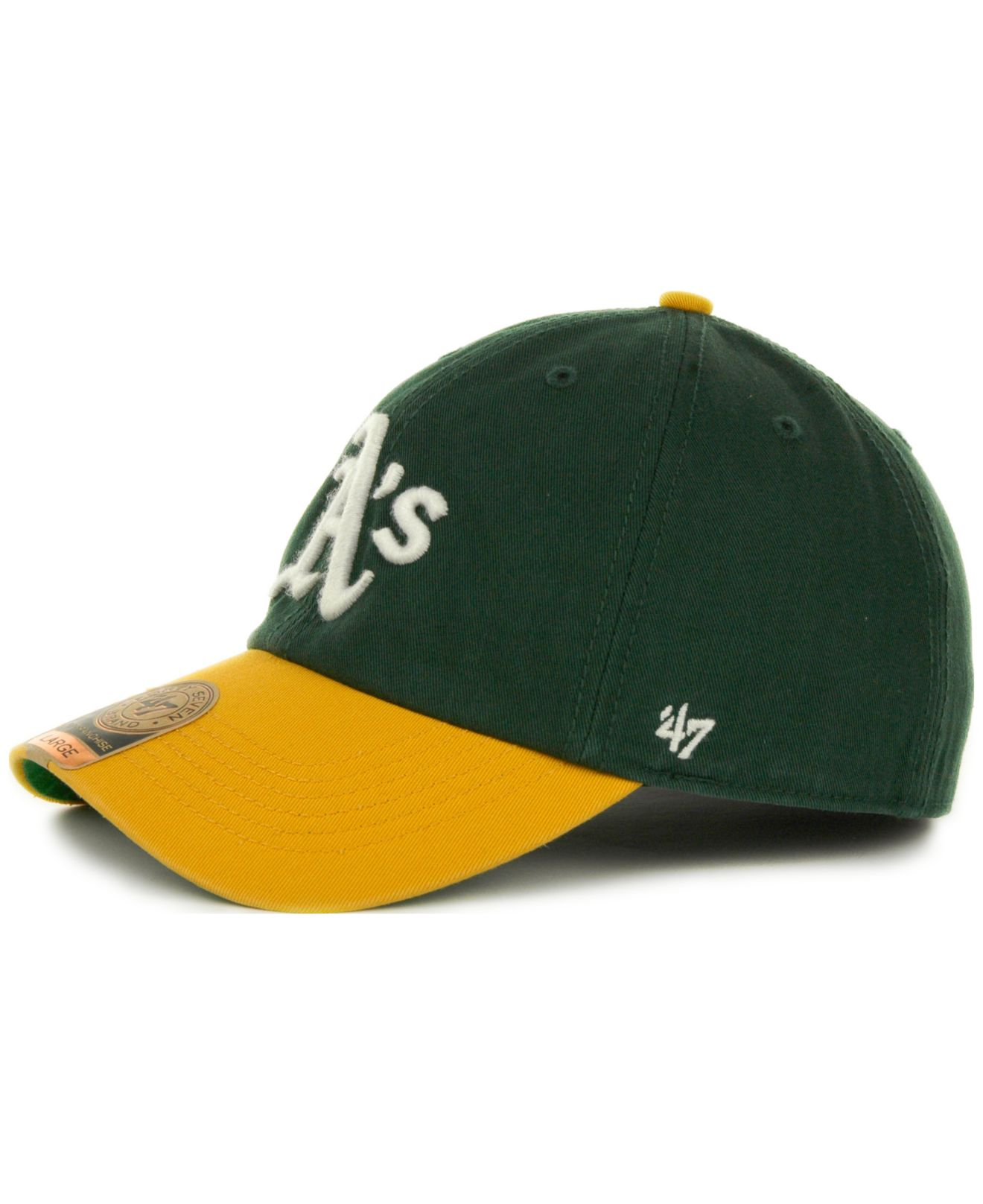 new photos 80314 464ed ... discount code for lyst 47 brand oakland athletics 47 franchise cap in  green for men f3af0