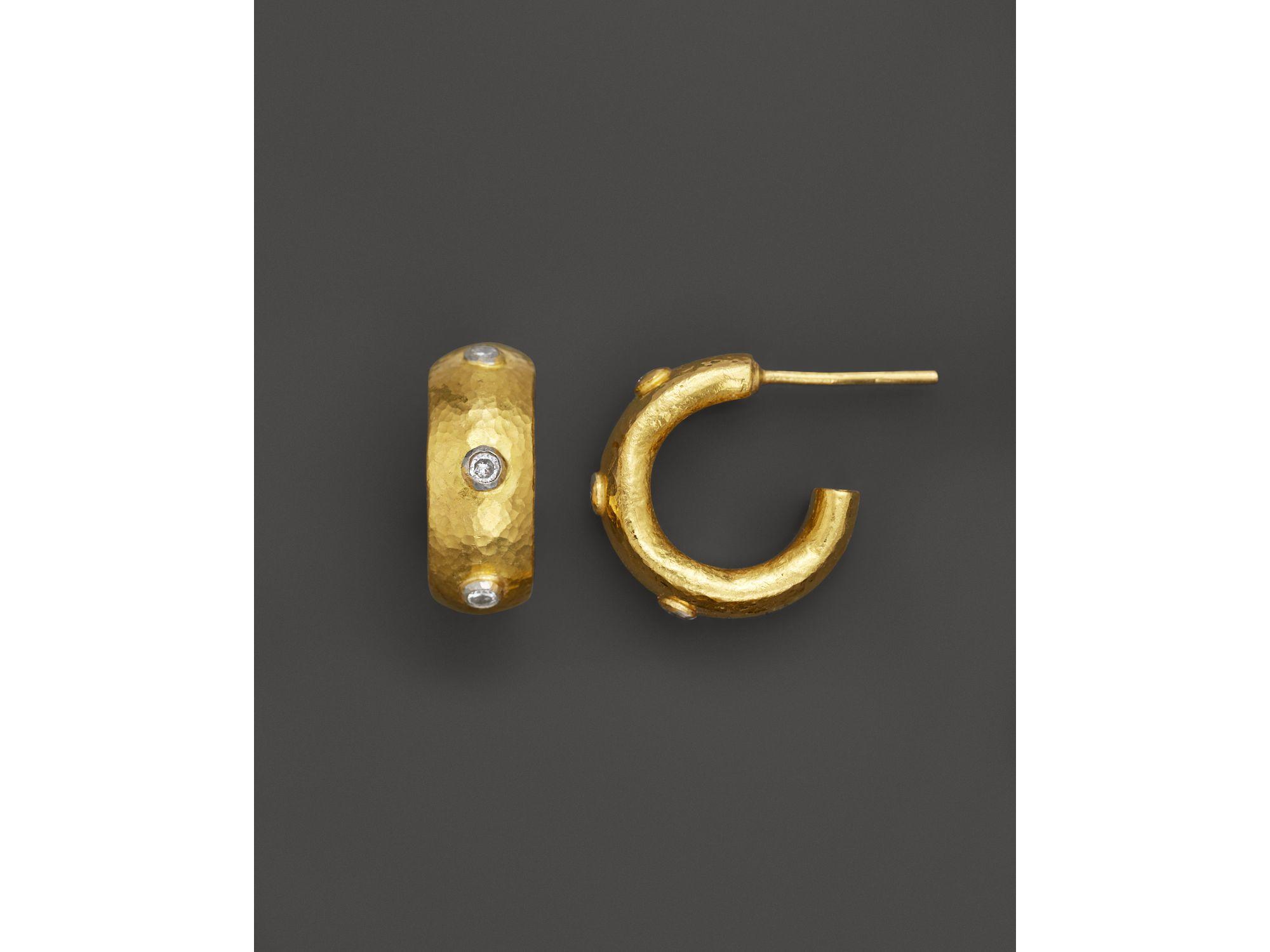 Gurhan Constellation Diamond Huggie Hoop Earrings In 24k Gold 24