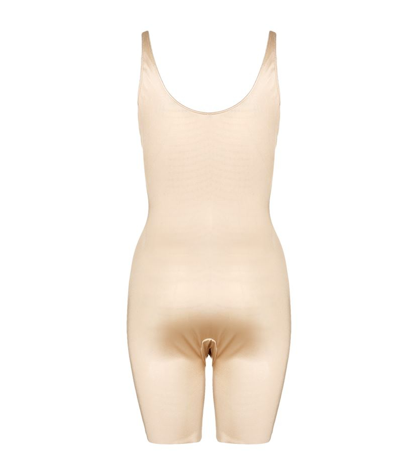 f012249b839c1 Spanx Slimplicity Open Bust Bodysuit in Natural - Lyst