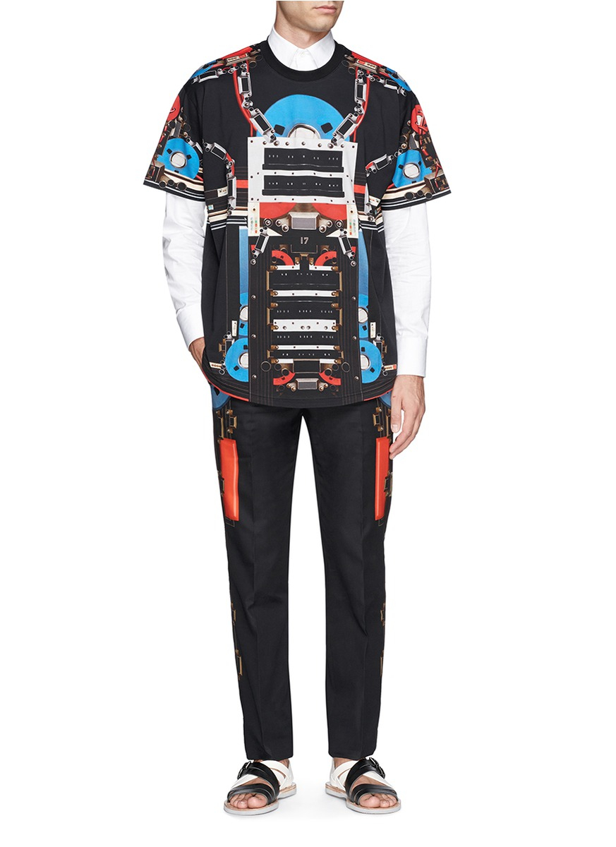 Givenchy Robot Component Side Print Slim-fit Pants in ...
