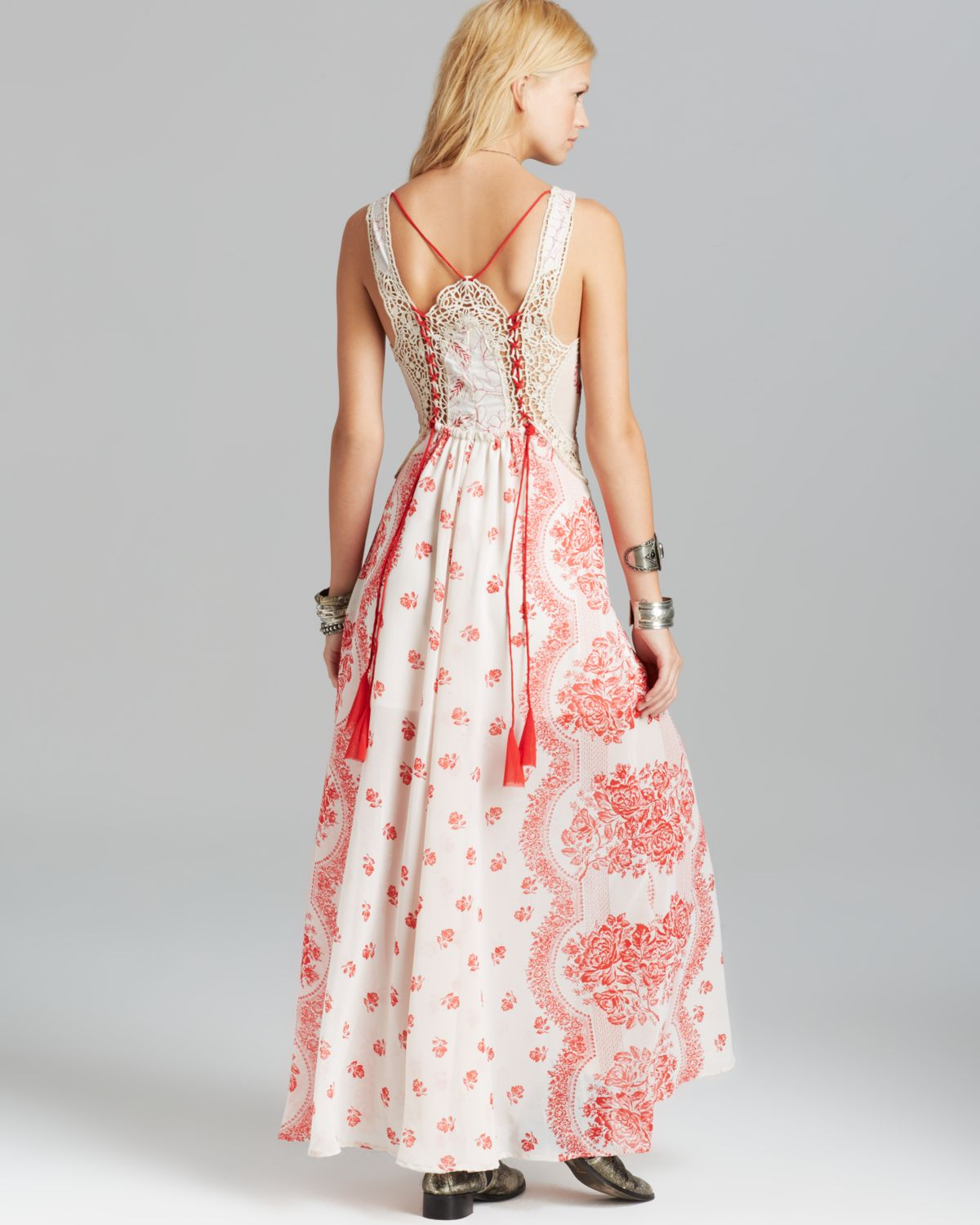 Lyst Free People Maxi Dress Victorian Love In Natural