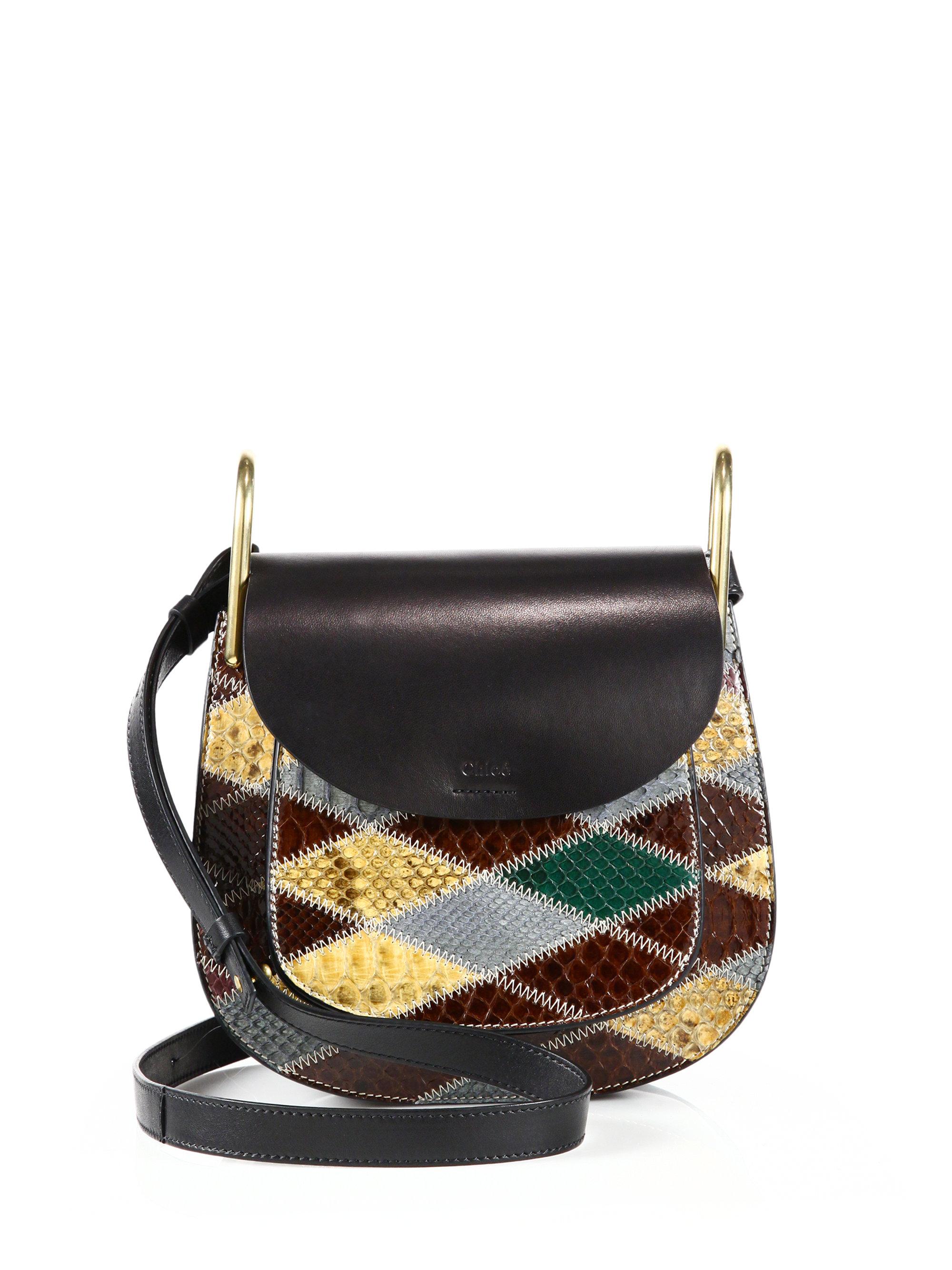 Chlo�� Hudson Small Patchwork Leather Shoulder Bag in Multicolor ...