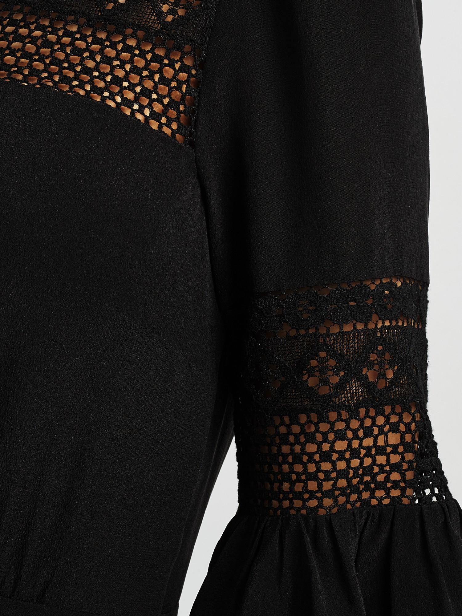 Black lace alice temperley dress