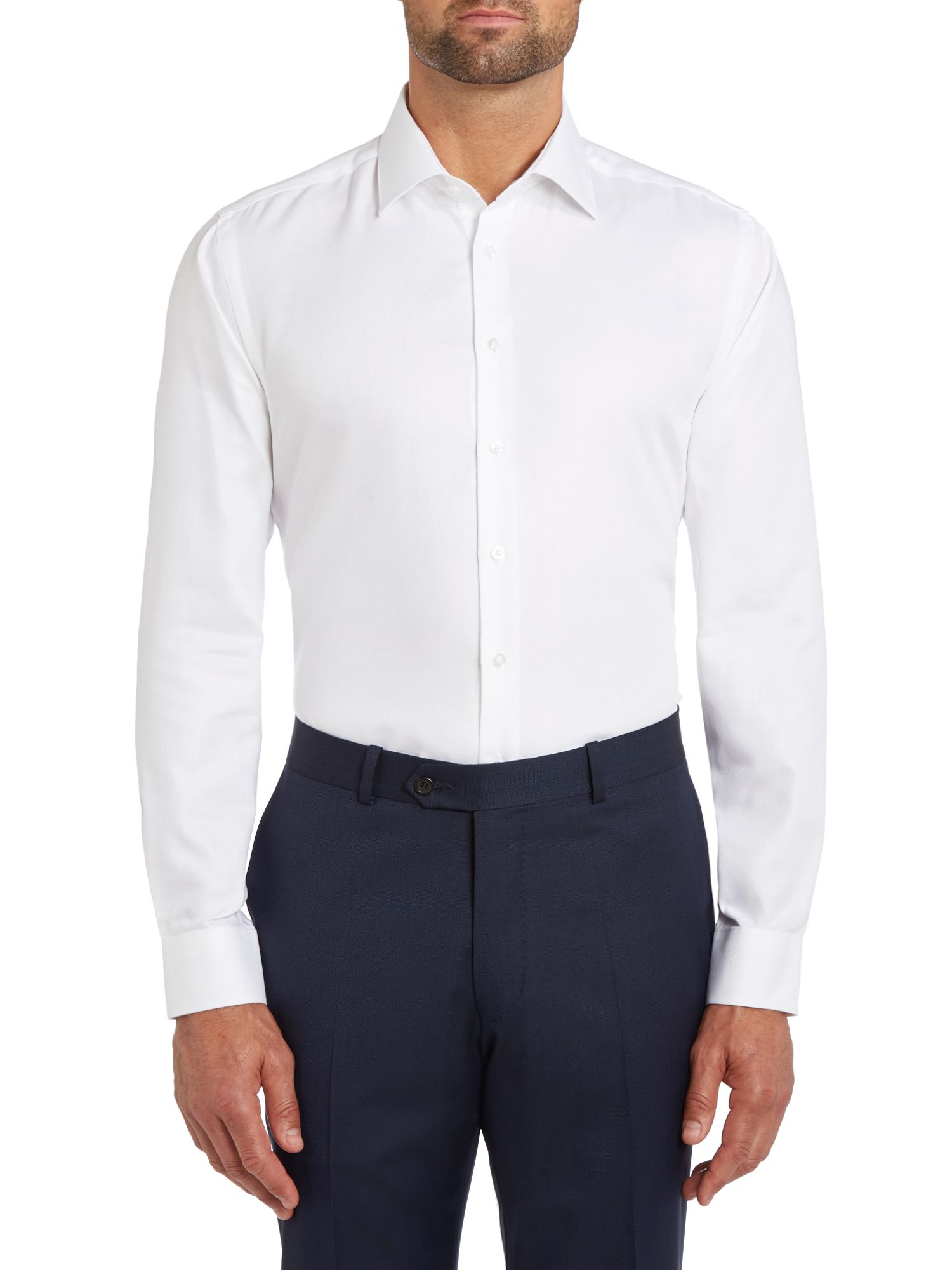 Paul Costelloe Slim Fit Button Cuff Long Sleeve Shirt In