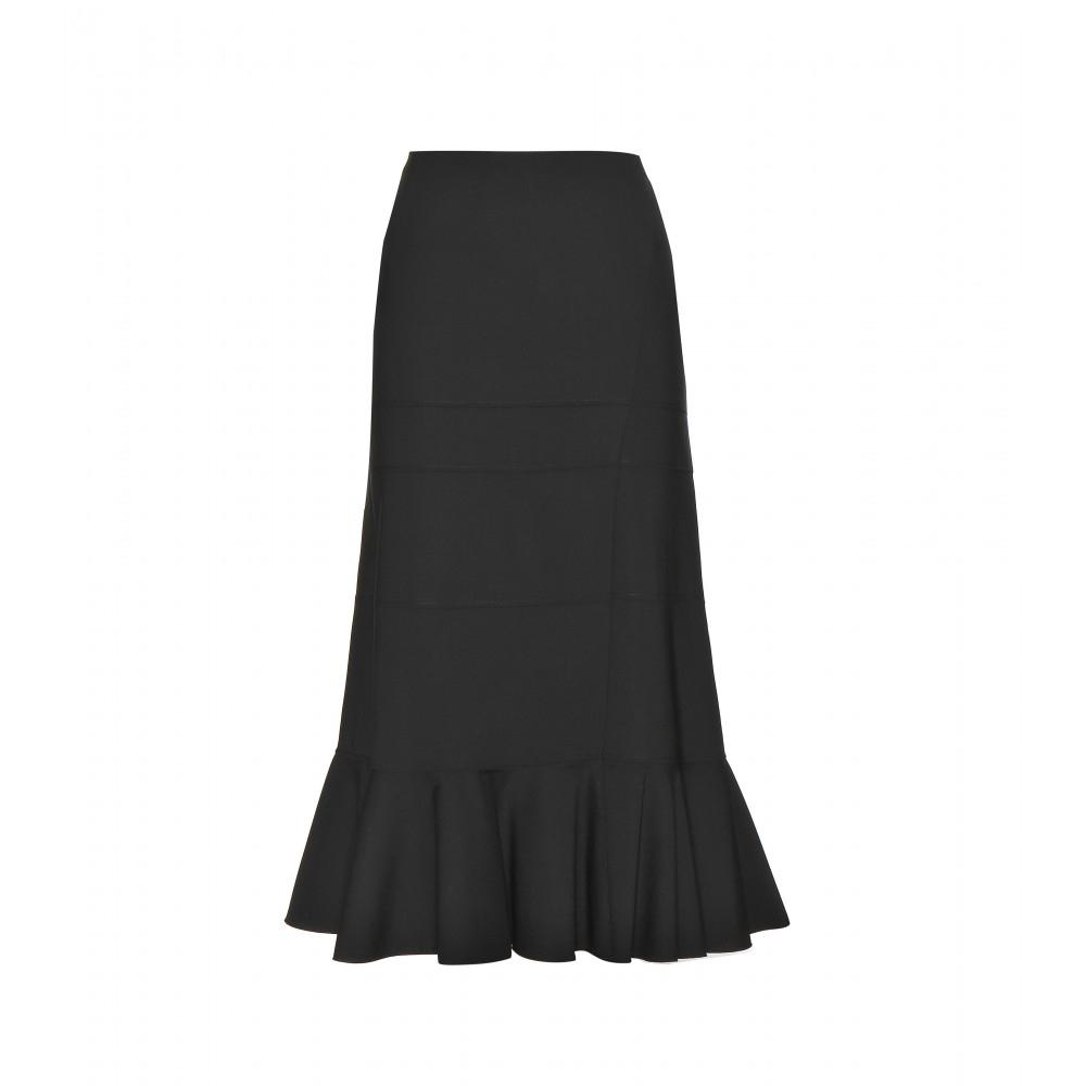 altuzarra wool midi skirt in black lyst