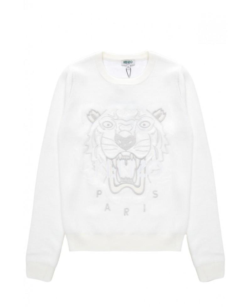 9ee6522f KENZO White On White Tiger Sweatshirt in White - Lyst