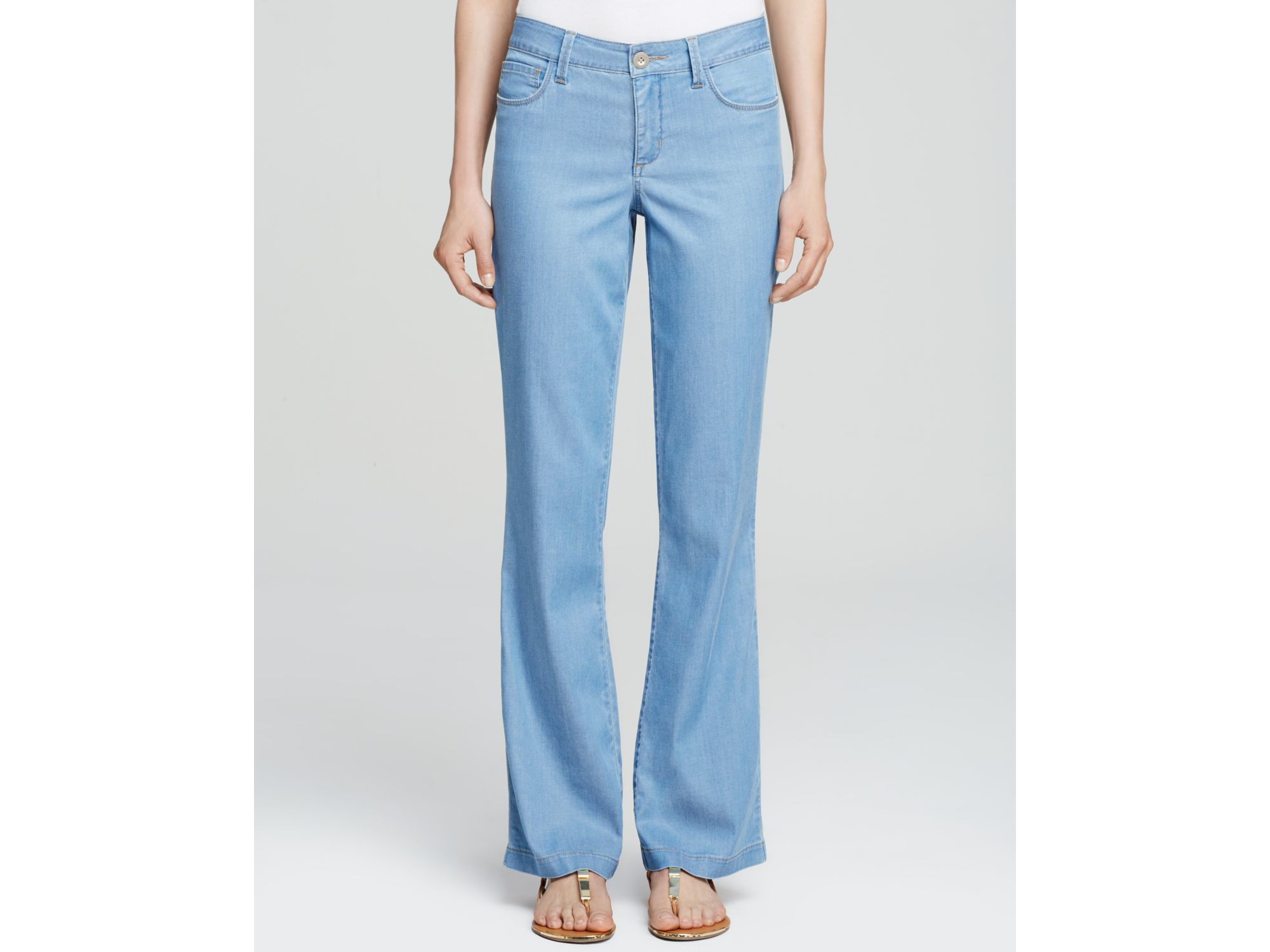 Nydj Wylie Chambray Trousers In Norway in Blue | Lyst