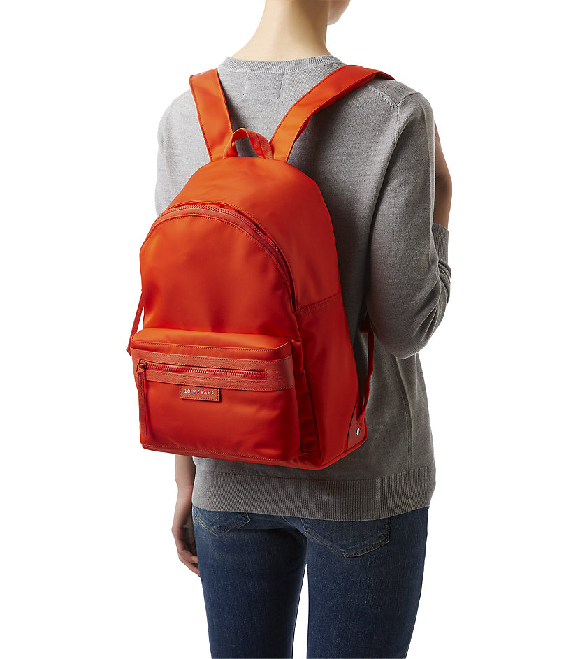 49da1bfbbf Longchamp Le Pliage Nã©O Backpack Clementine in Orange - Lyst