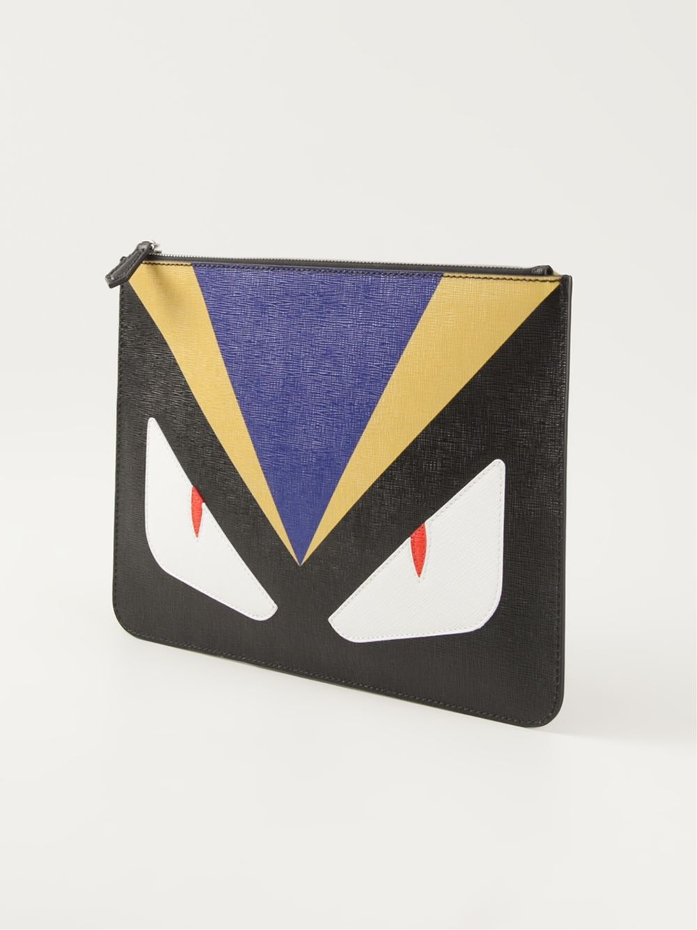 For Clutch 'bag Black Lyst Men Fendi In Bugs' BqRB46w