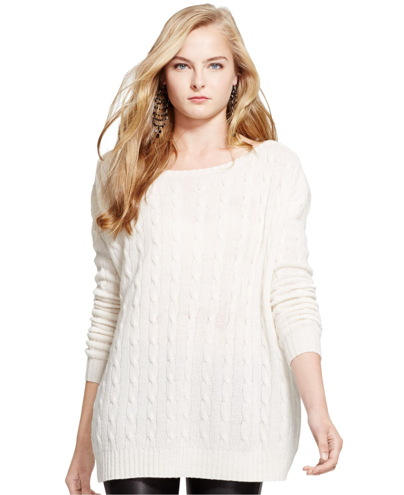 Lyst Polo Ralph Lauren Oversized Cable Knit Wool Cashmere Sweater