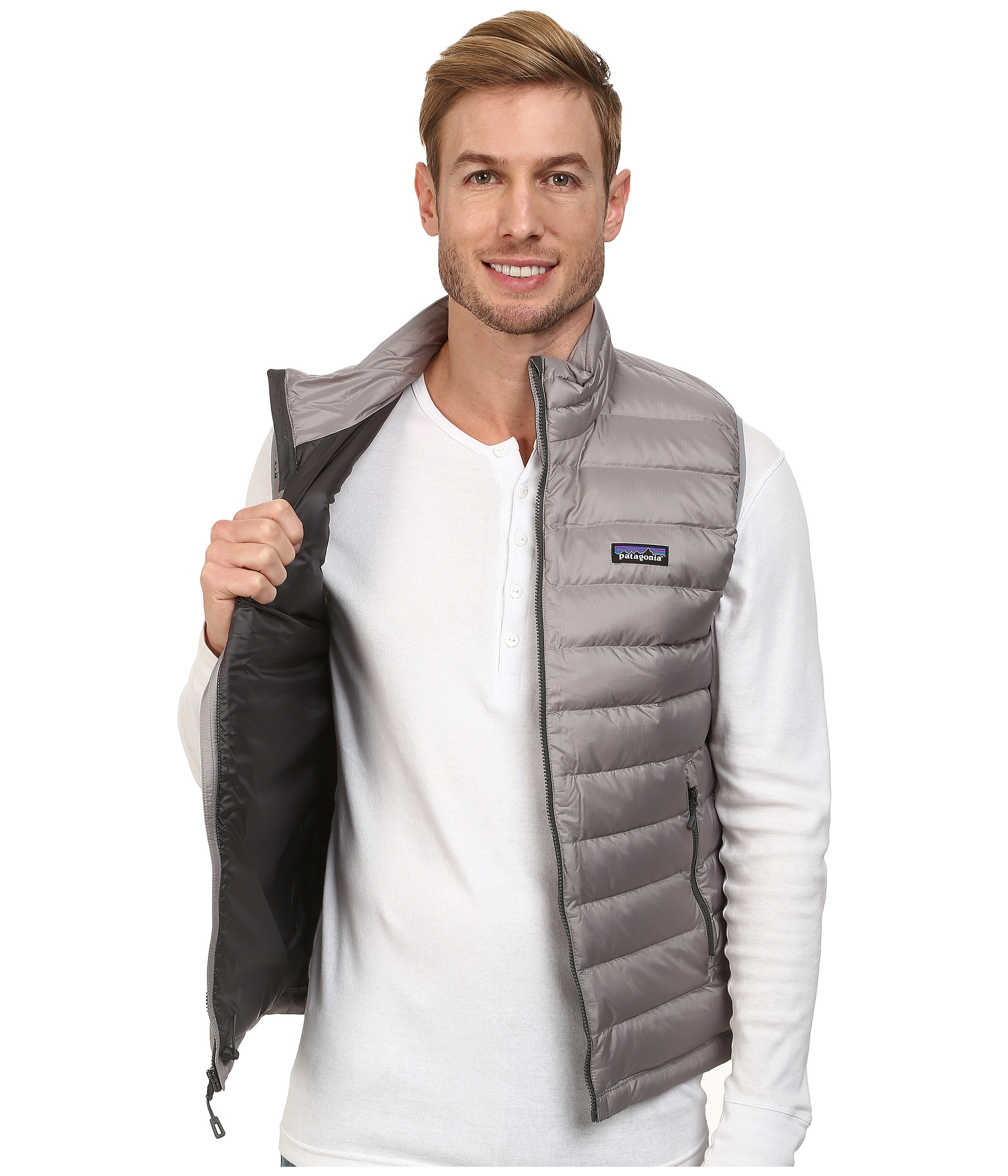 Patagonia Down Sweater Vest in Gray | Lyst