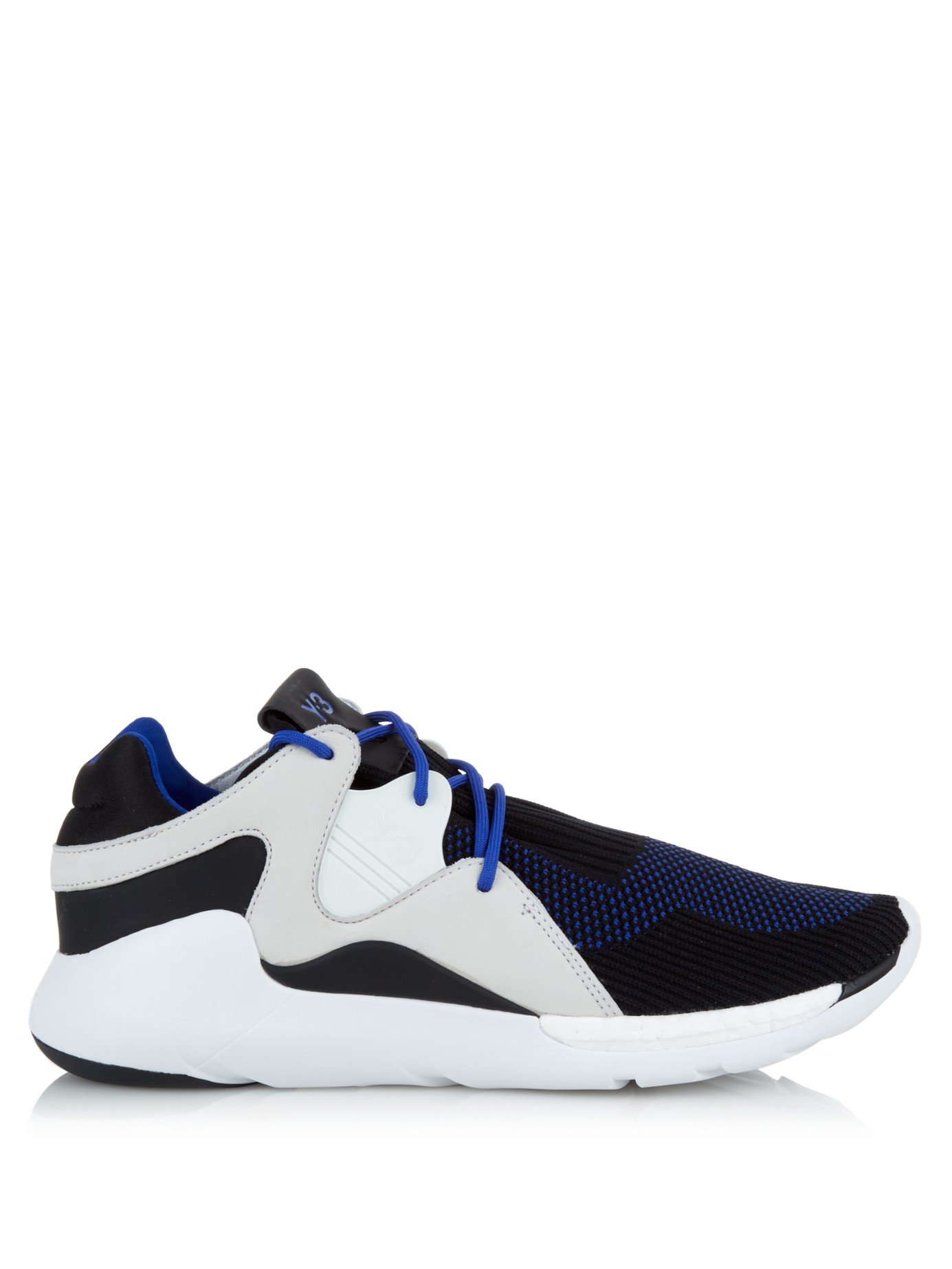 52ac7c899 Lyst - Y-3 Qr Run Low-top Knit Trainers in Blue for Men