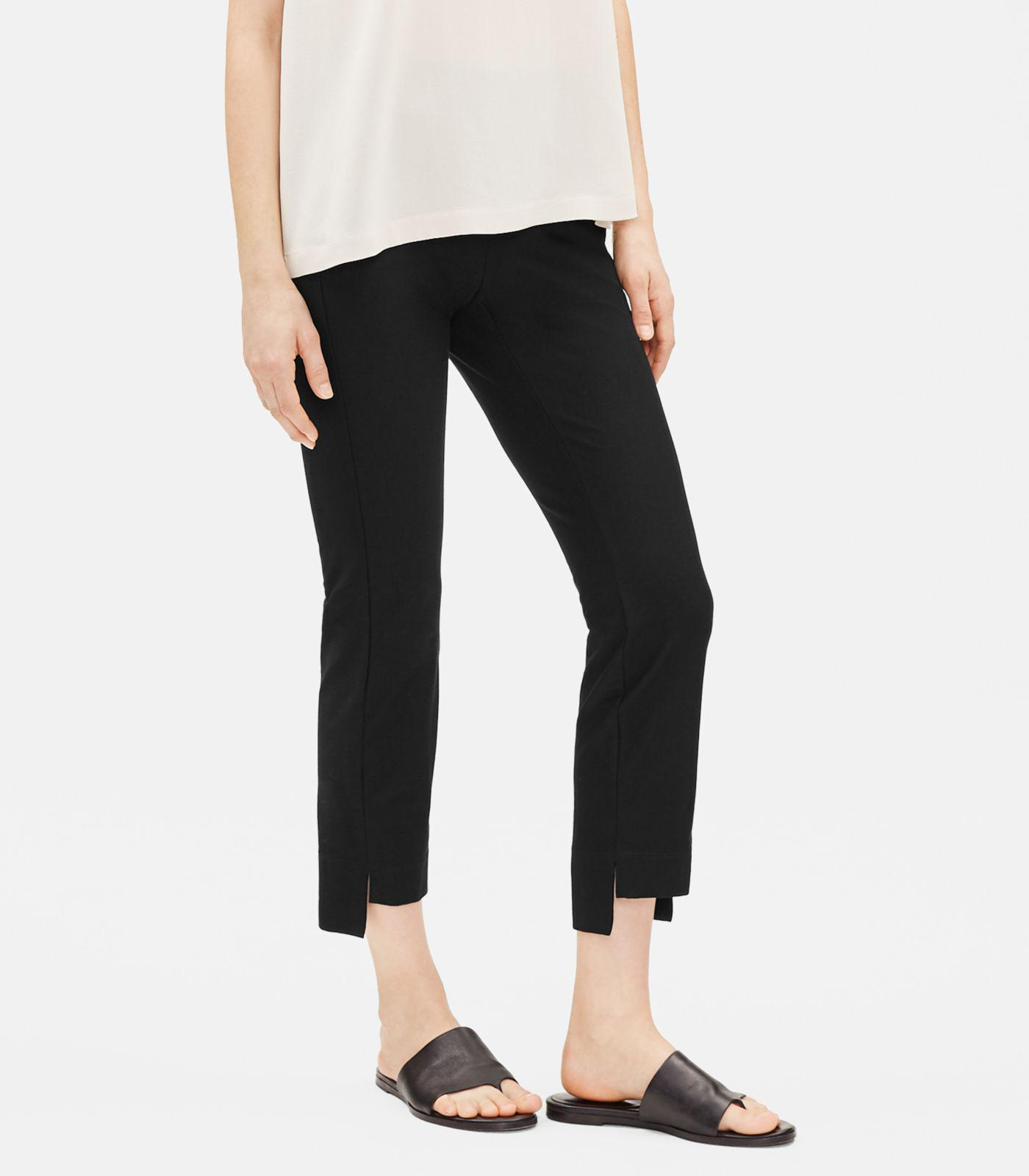 b43a1537e40c Eileen Fisher - Black Washable Stretch Crepe Slim Cropped Pant - Lyst. View  fullscreen