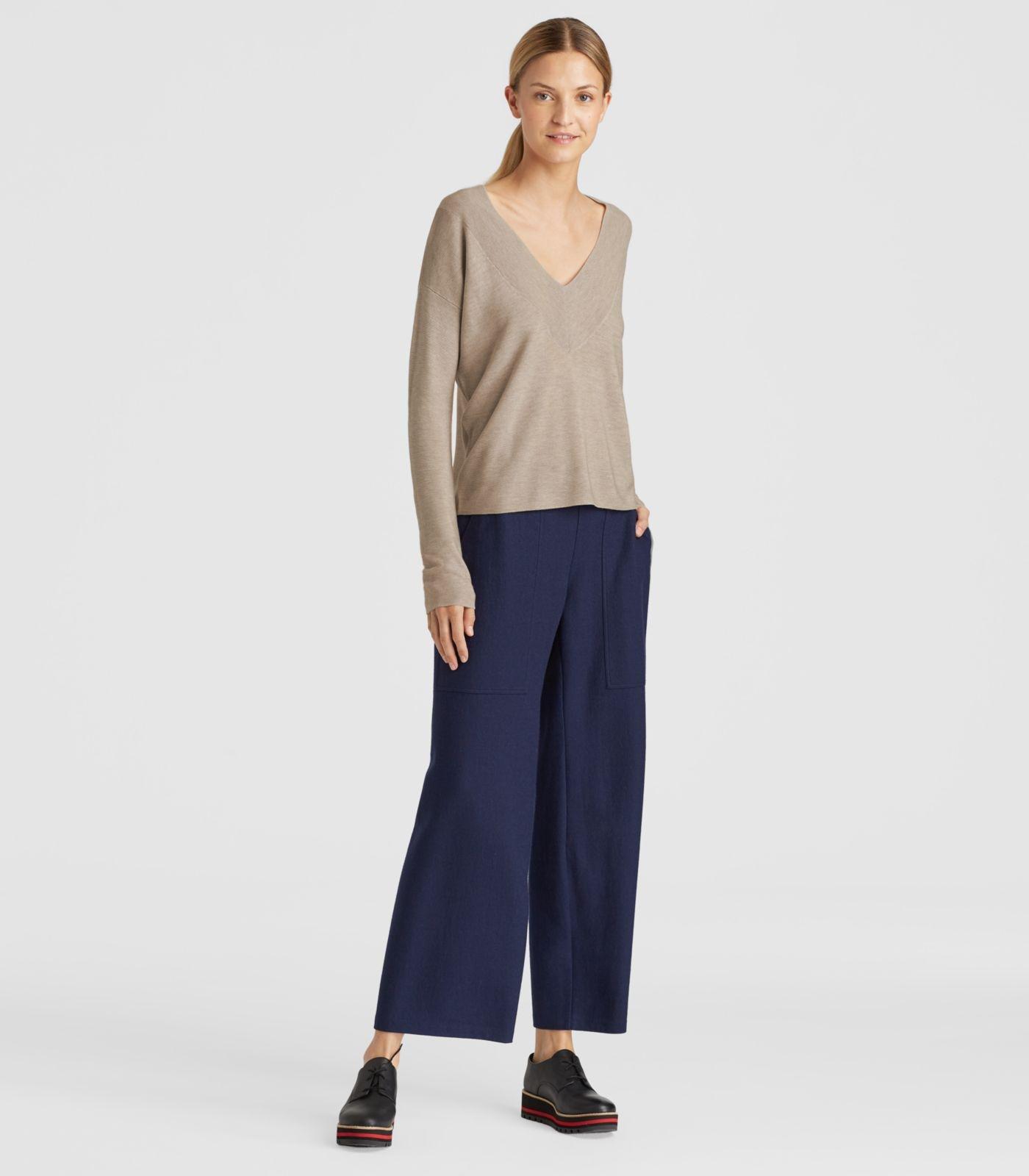 551d0acde7 Lyst - Eileen Fisher Silk V-neck Top