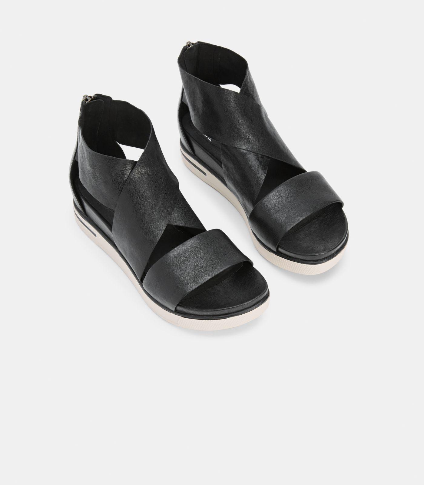 390eb3978 Lyst - Eileen Fisher Sport Leather Sneaker Sandal in Black - Save 39%