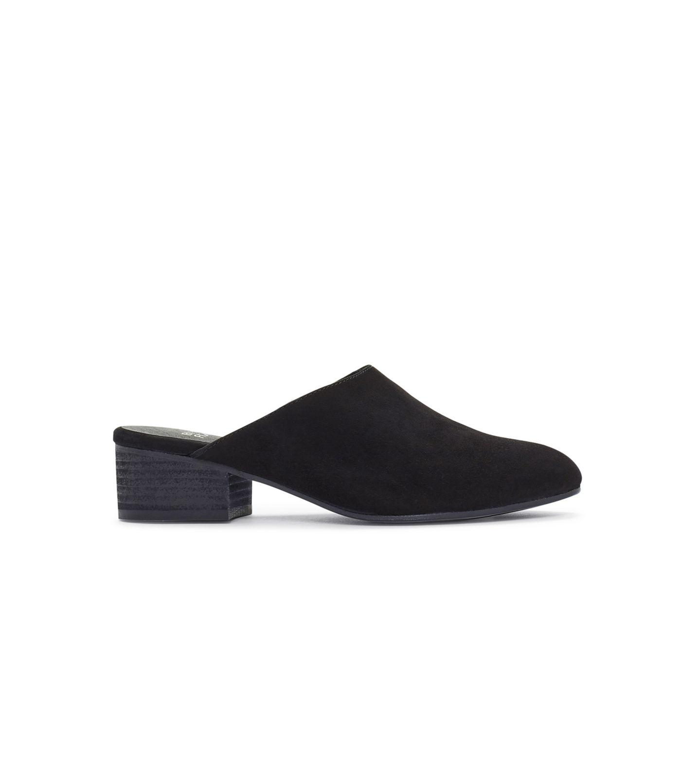 ed9f3e3db438 Lyst - Eileen Fisher Suede Sylvia Mule in Black