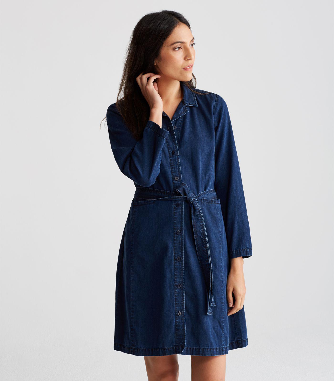 e31fc5a8a26 Eileen Fisher - Blue Organic Cotton Denim Shirt Dress - Lyst. View  fullscreen