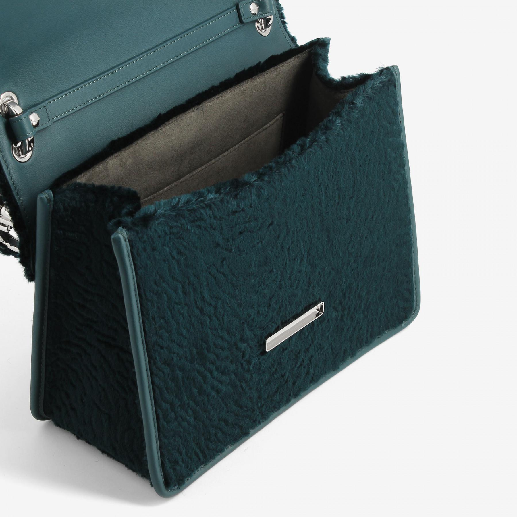 d9312abd56c9 Fendi Kan I Logo Textured-velvet Shoulder Bag in Blue - Lyst