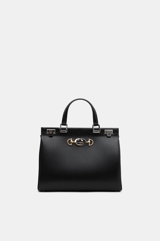 1a43b1a02 Gucci Zumi Medium Top Handle Bag in Black - Lyst