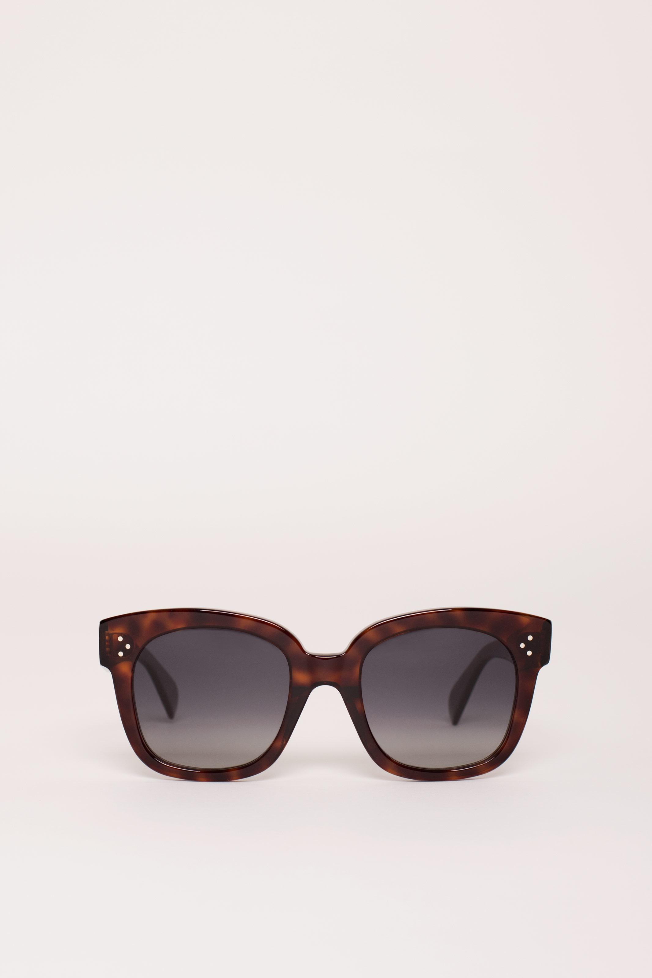 40be781eb455 Lyst - Céline Oversized Sunglasses in Red