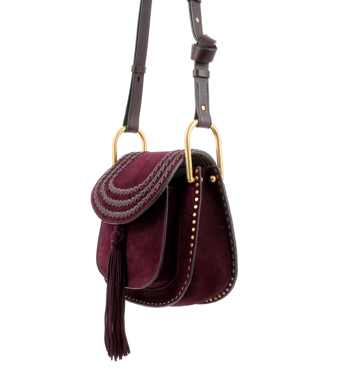 Lyst Chlo 233 Hudson Small Suede Shoulder Bag In Purple