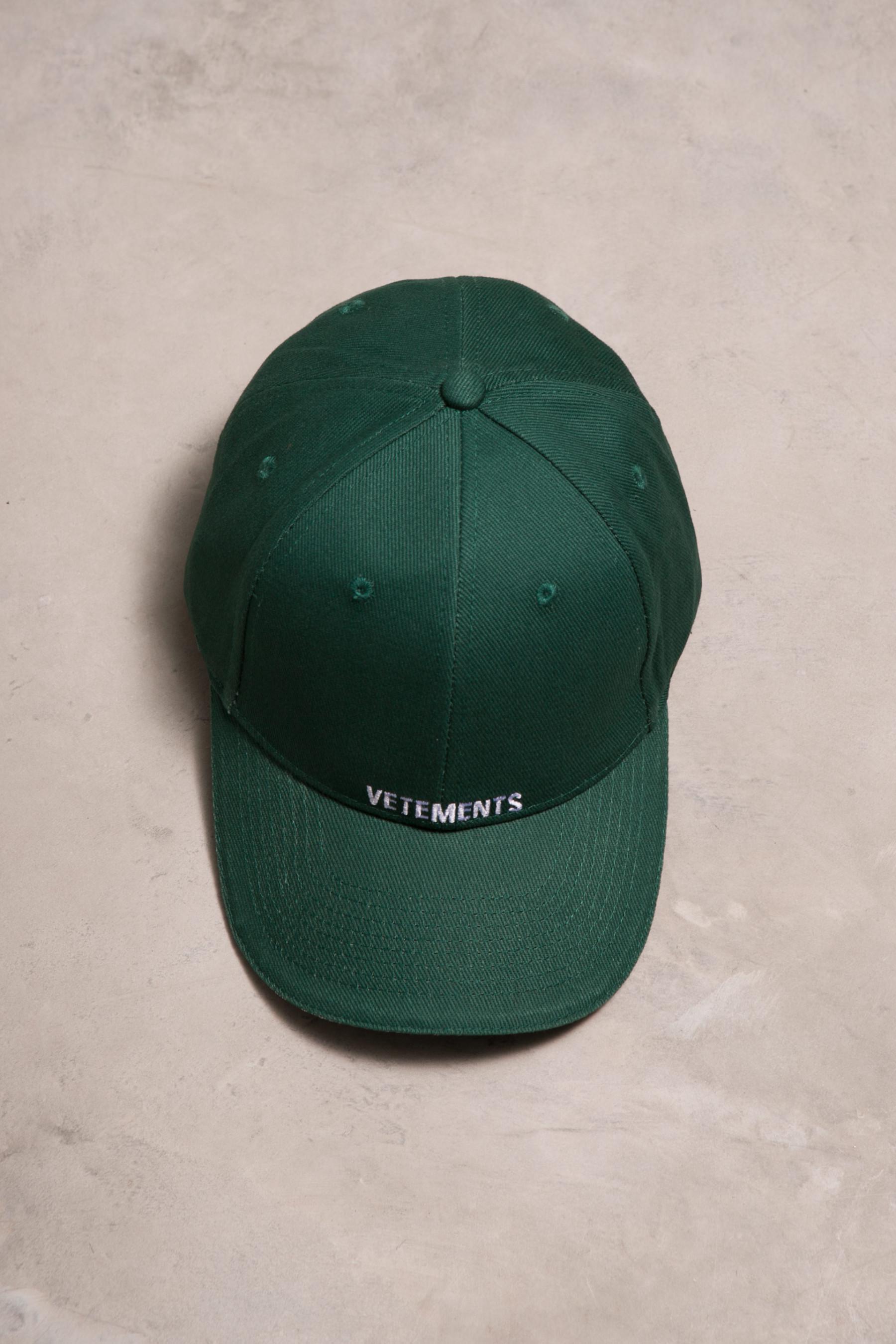 Lyst - Vetements Cap in Green for Men 26b1669cc108