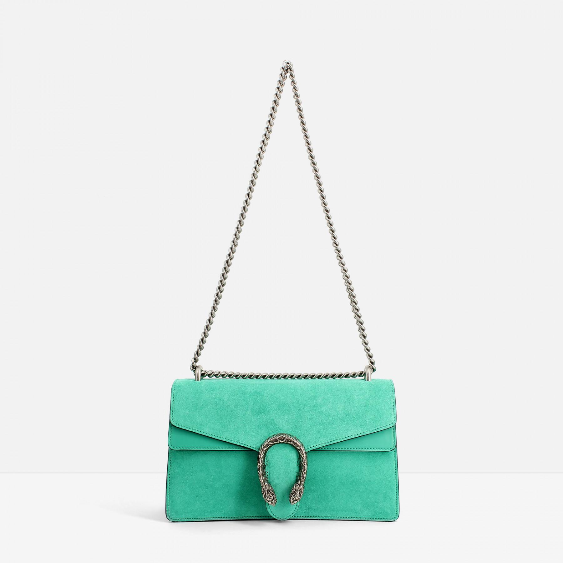 adbb9650083 Gucci Dionysus Suede Shoulder Bag in Green - Lyst