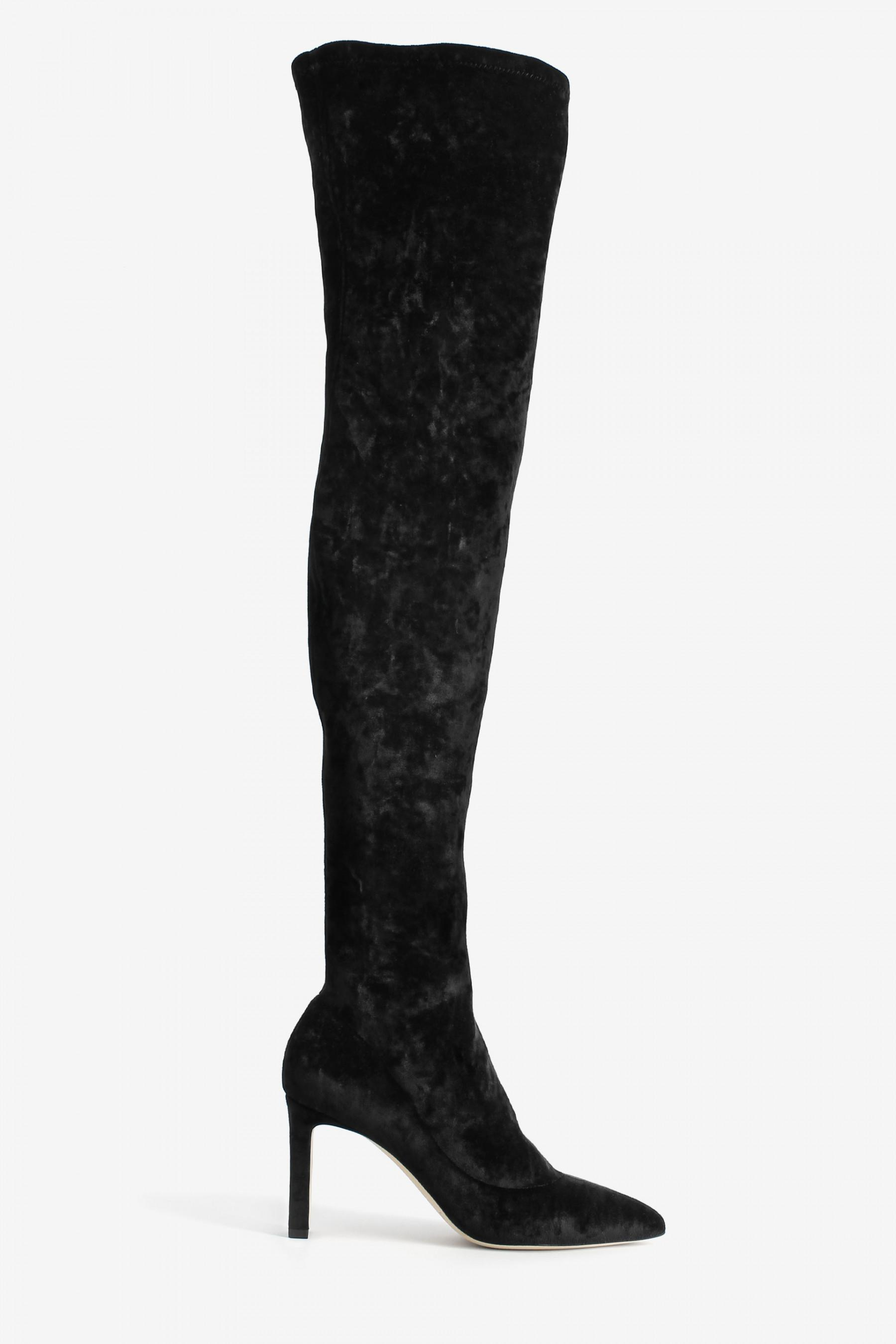 Jimmy choo Helaine Suede Leather Heel Boots