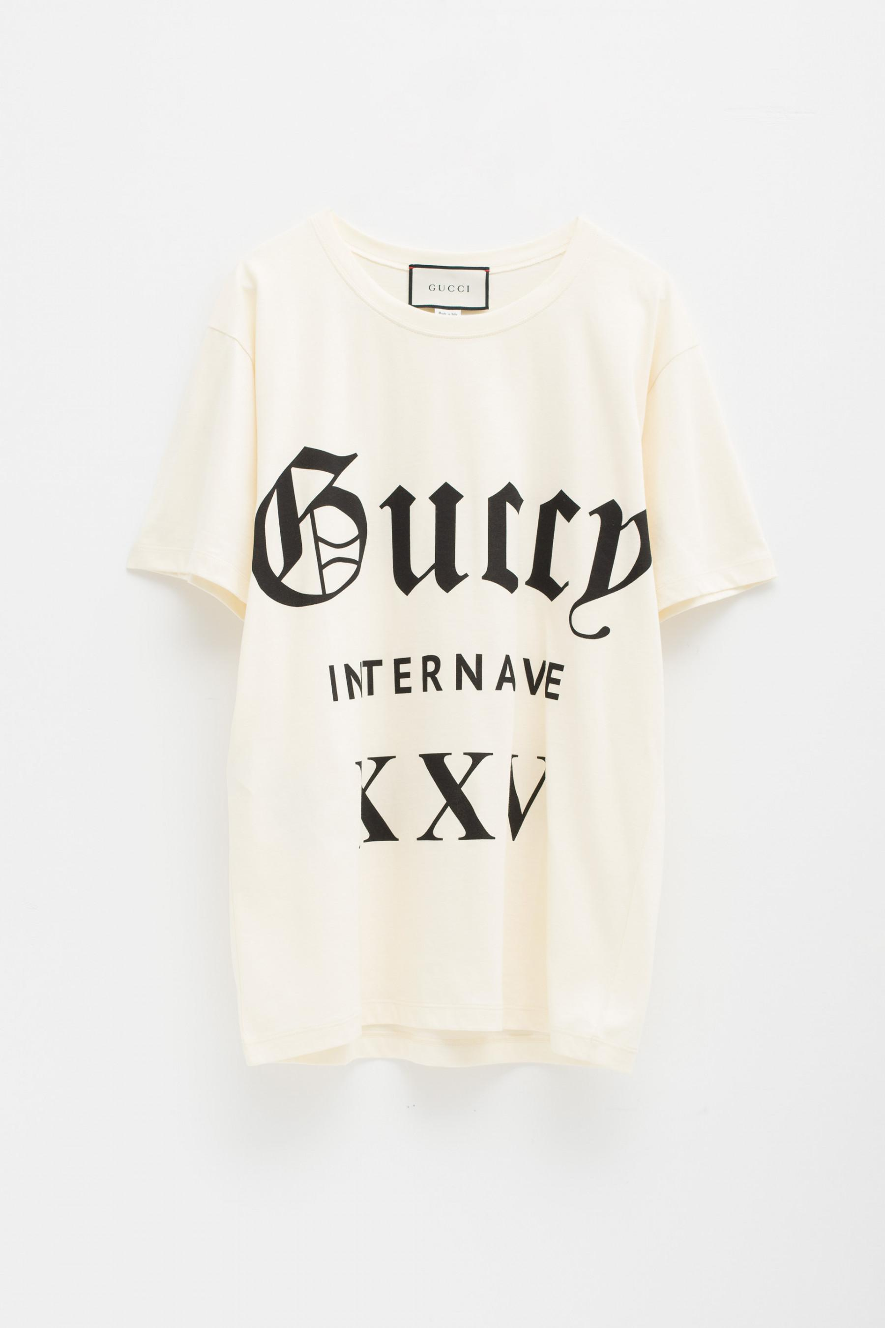 8c886f8f45a Gucci - Natural Oversize T-shirt Guccy Internaive Xxv - Lyst. View  fullscreen