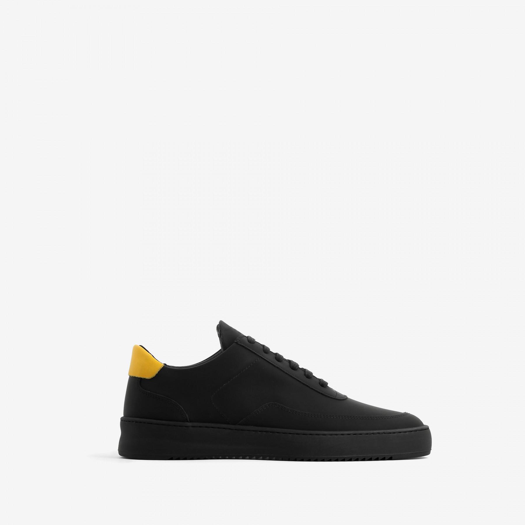 Filling Pieces Black & Yellow Low Mondo Ripple Sneakers vziXhFHzX