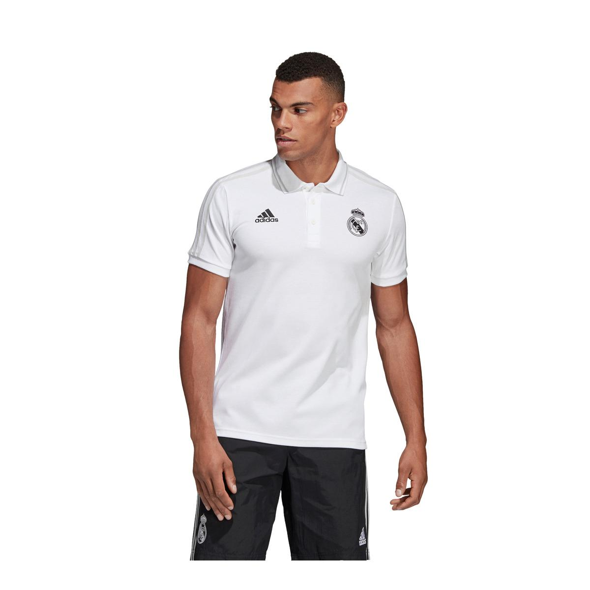 72c4c268b21 adidas Real Madrid Cf 2018-2019 Polo Shirt in White for Men - Lyst