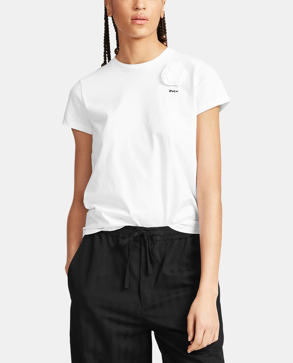 66ab53d3c0 Polo Ralph Lauren. Women's Wo White Cotton T-shirt. $79 From El Corte Ingles