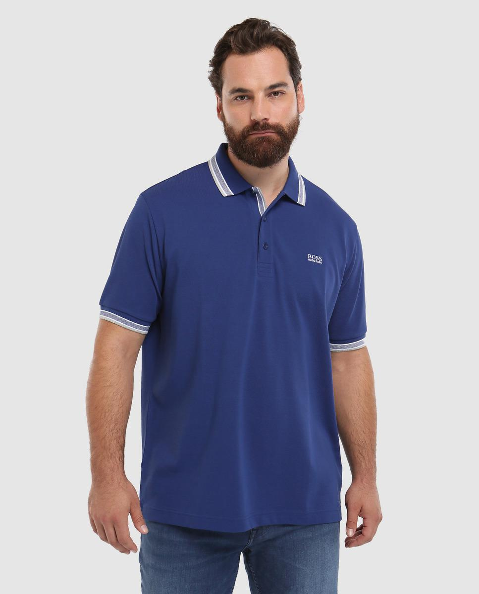 2fb326526 Lyst - BOSS Big And Tall Blue Short Sleeve Piqué Polo Shirt in Blue ...