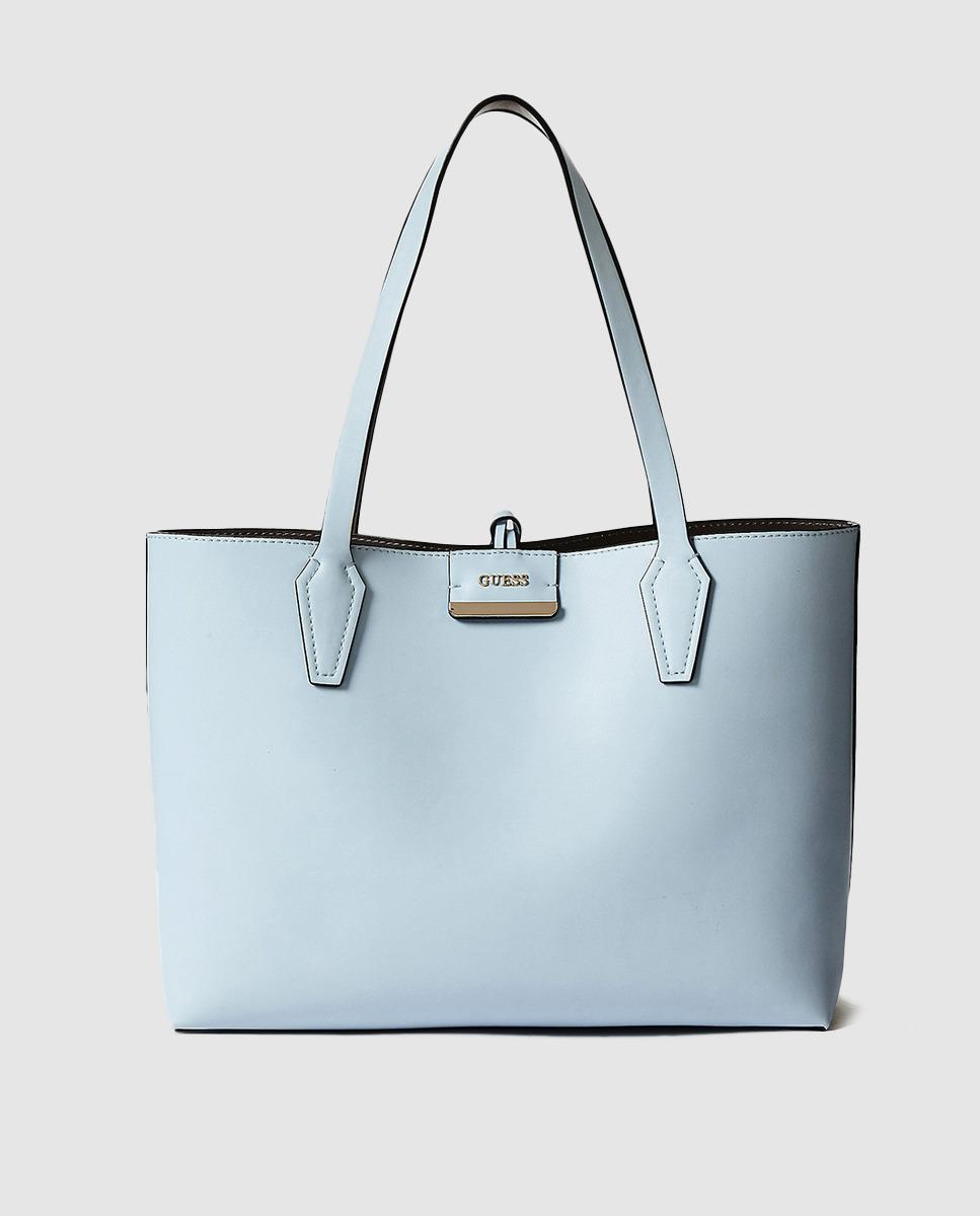 b17daf068b9e Guess Reversible Pale Blue And Grey Tote Bag in Blue - Lyst