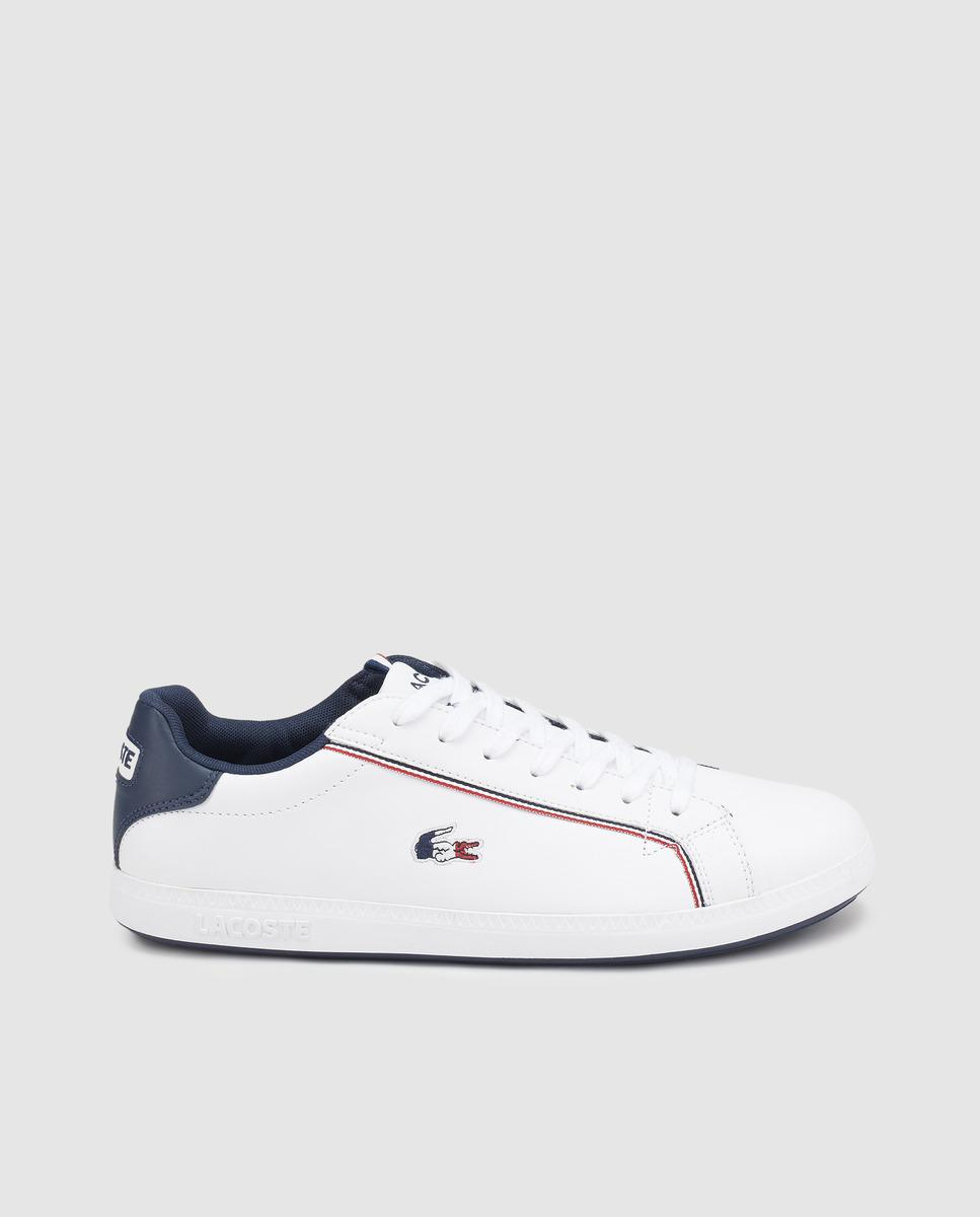 7f7376484 Lyst - Lacoste White Leather Lace-up Trainers in White for Men