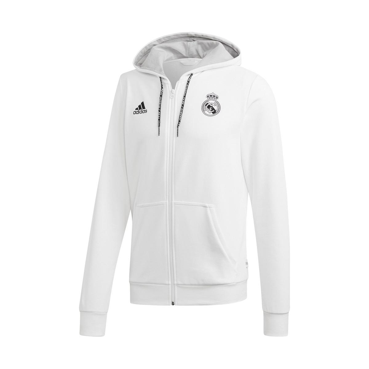 3c43ca8b806 Lyst - adidas Real Madrid Cf 2018-2019 Sweatshirt in White for Men