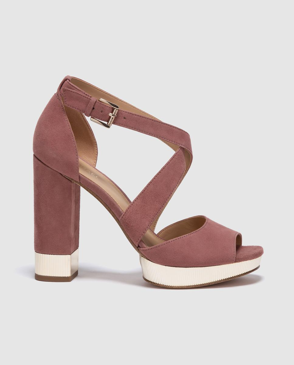 13dd20b38b3 MICHAEL Michael Kors. Women s Michael Kors Pink Leather High-heel Sandals  Valerie Platform ...