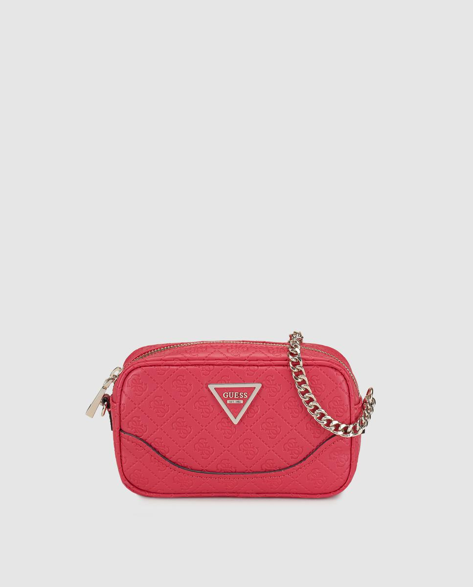 Guess Small Red Crossbody Bag With Logo Embossing Lyst