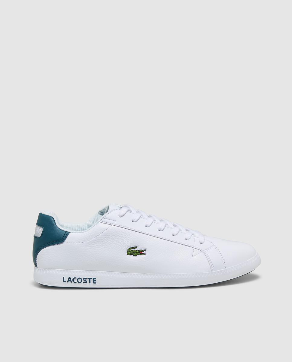 d688b28d95288 Lacoste White Canvas Trainers in White for Men - Lyst